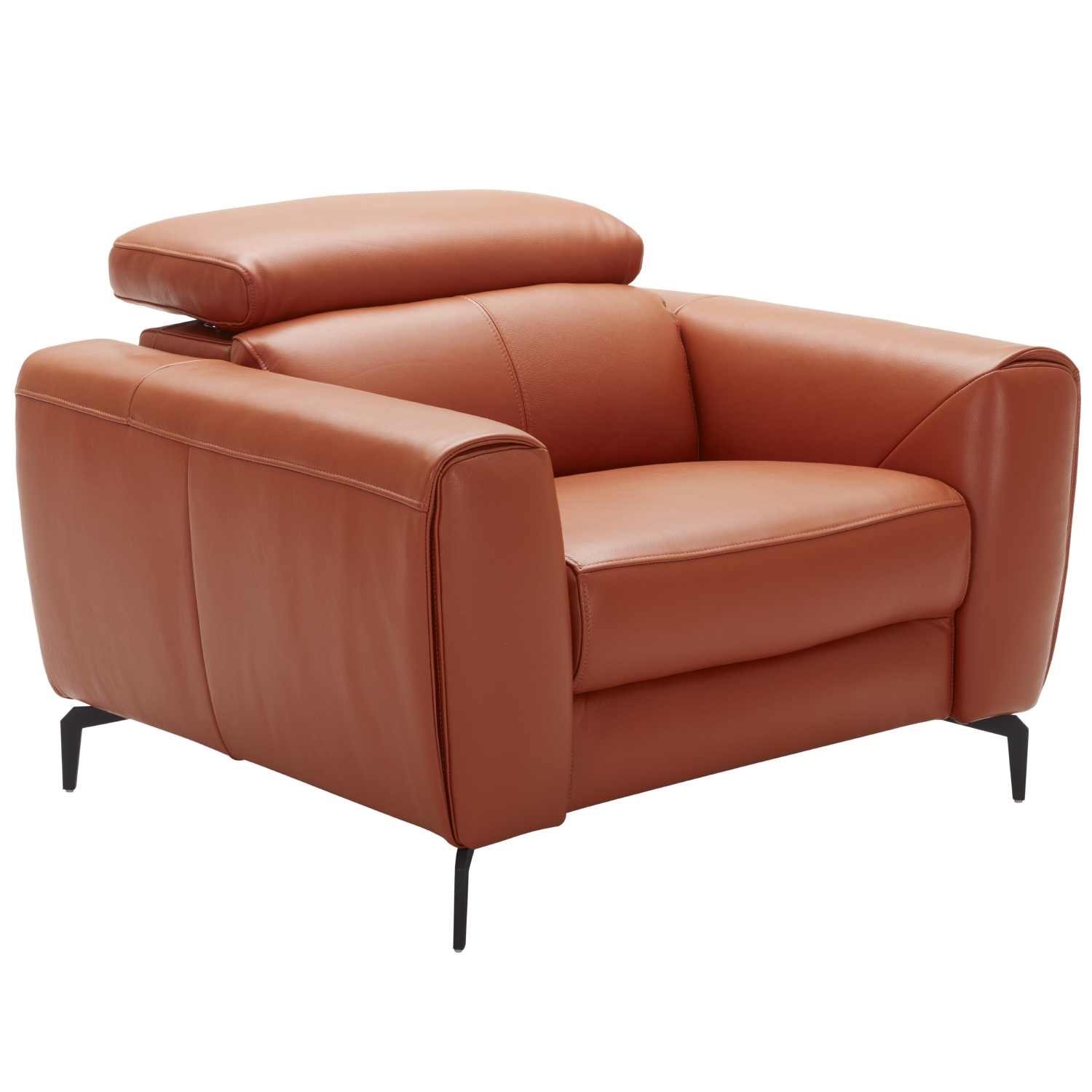 Prime Cooper Accent Chair In Pumpkin Italian Leather By J And M Furniture Andrewgaddart Wooden Chair Designs For Living Room Andrewgaddartcom