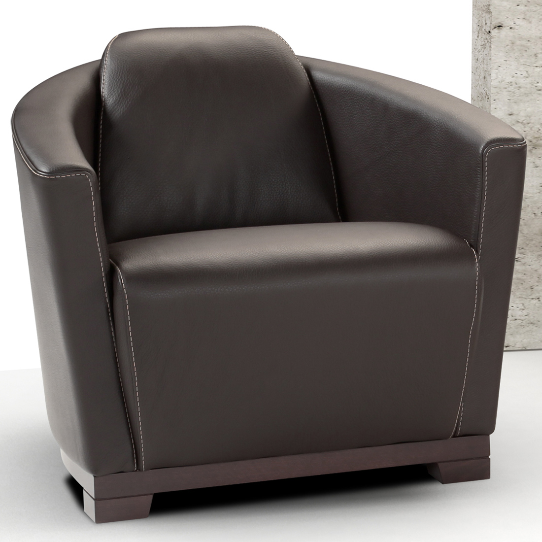 Astonishing Hotel Accent Chair In Chocolate Brown Top Grain Italian Leather By J And M Furniture Theyellowbook Wood Chair Design Ideas Theyellowbookinfo