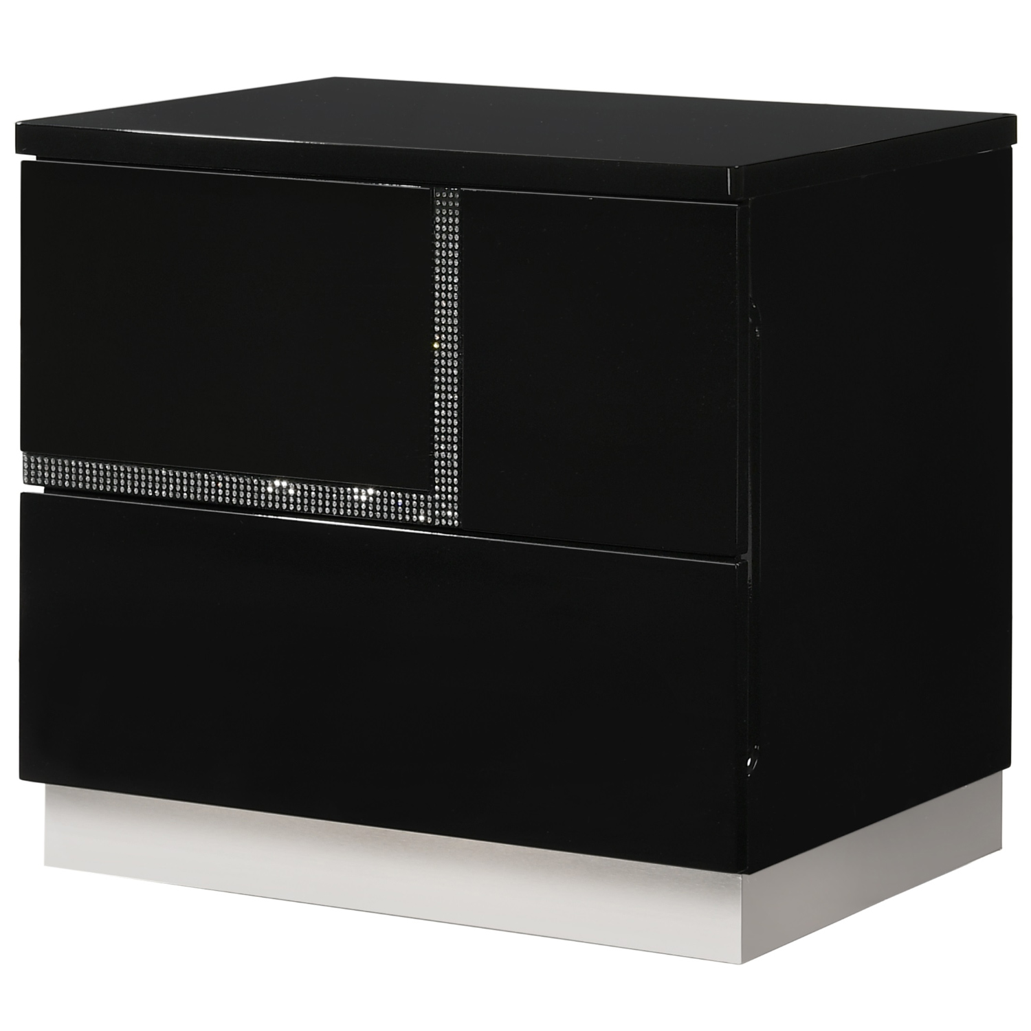 Lucca Left Facing Nightstand In Black Lacquer By J And M Furniture