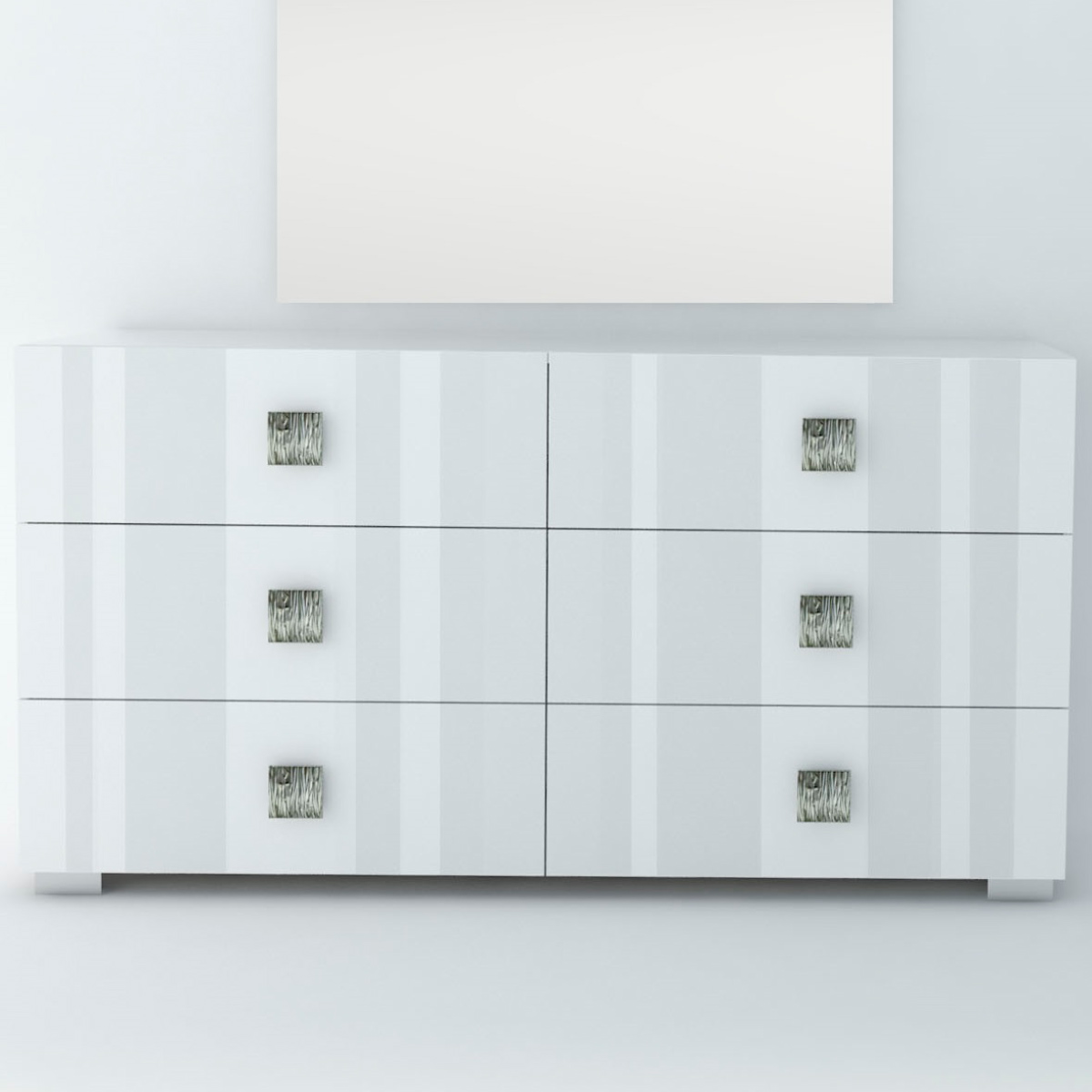 Mika Dresser In High Gloss White Lacquer By JM Furniture