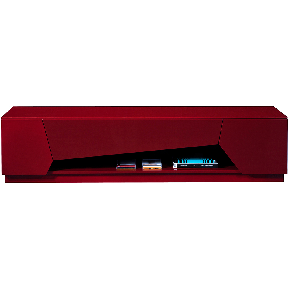 jm furniture tv  contemporary tv stand in high gloss red -  contemporary tv stand in high gloss red