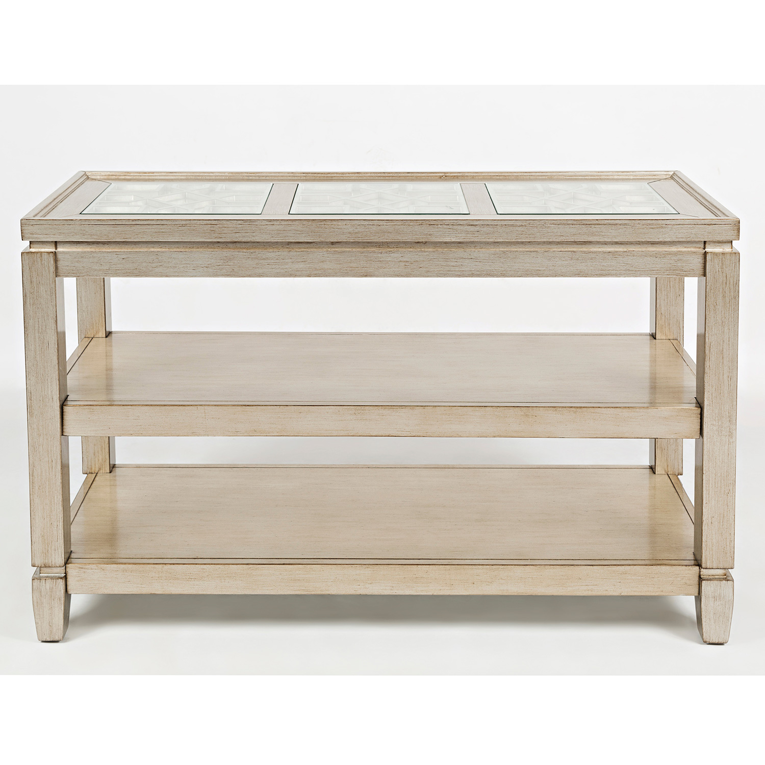 Jofran 1551 4 Casa Bella Sofa Table in Vintage Silver w Intricate