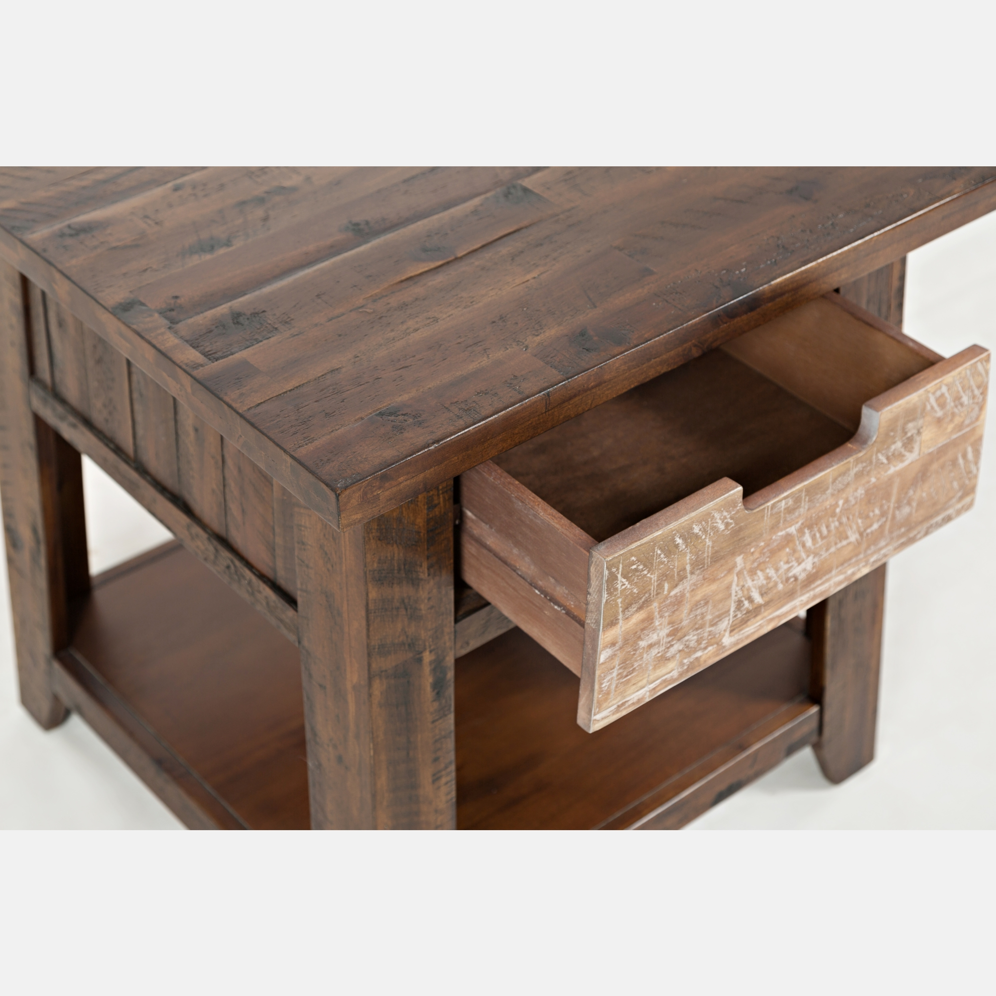Jofran 1600 3 Painted Canyon End Table w Drawer & Shelf in