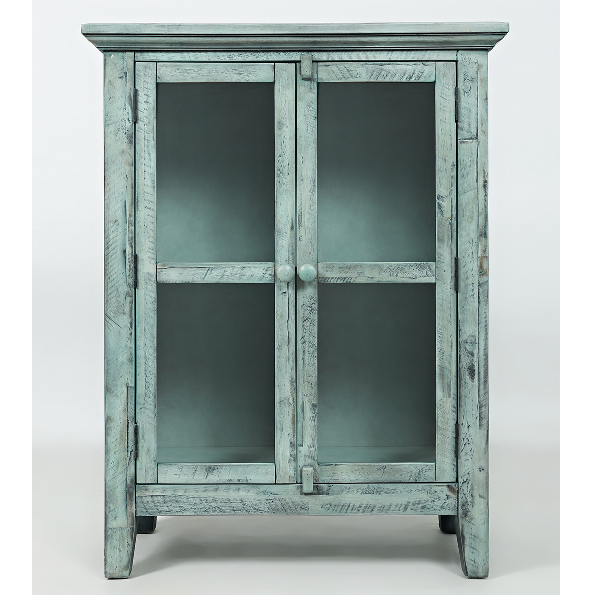 Blue Accent Cabinet. Beautifully Bright Kitchen With Blue Accent ...