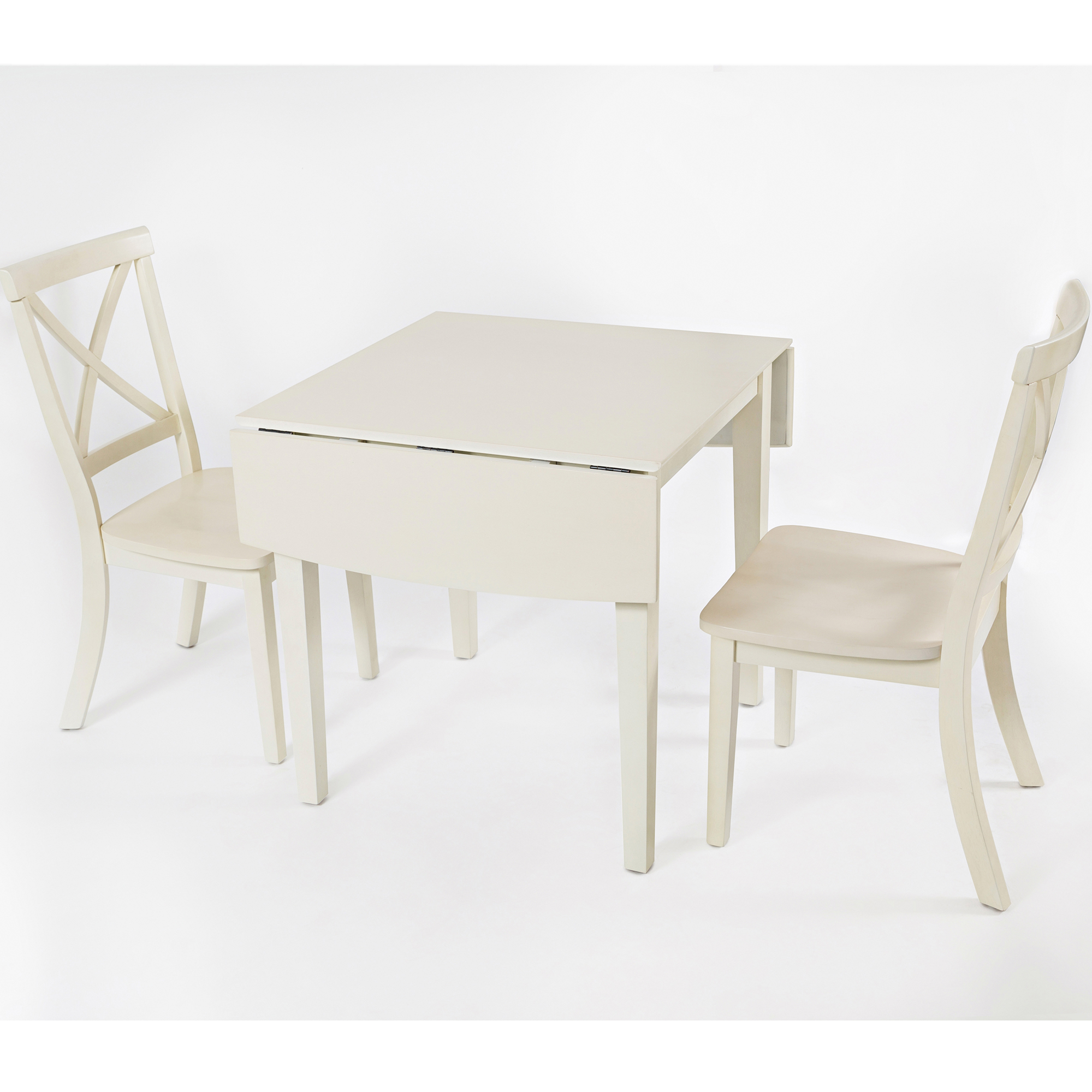 Everyday Clics Double Drop Leaf Dining Table W 2 X Back Chairs In Linen By Jofran