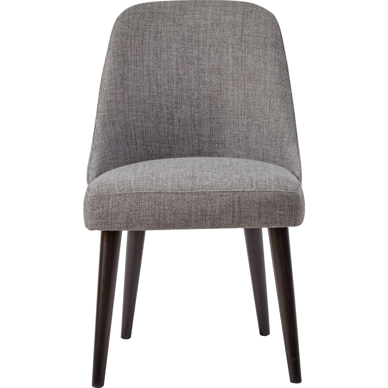 Jofran American Retrospective Dining Chair In Grey Fabric On Birch Legs