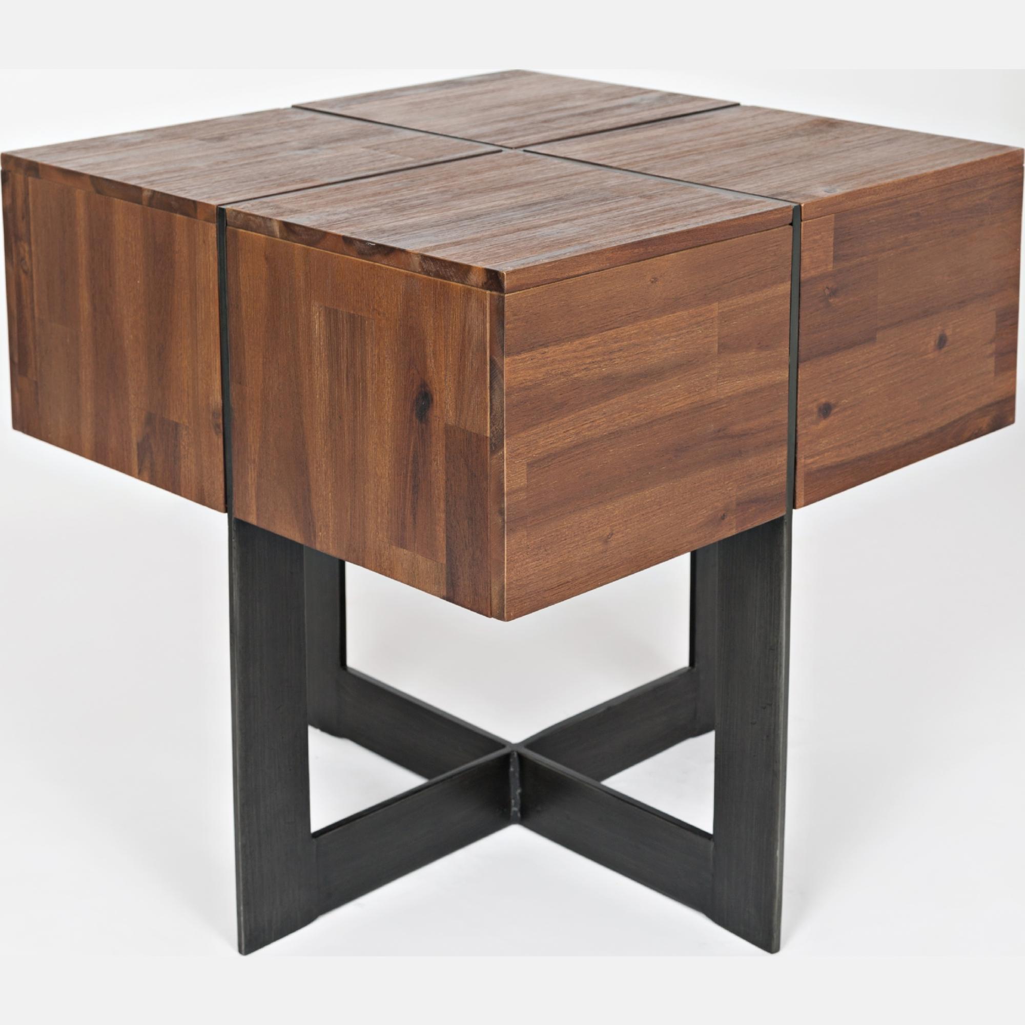 Jofran 1660 6 Studio 16 Floating End Table w Geometric X Base in