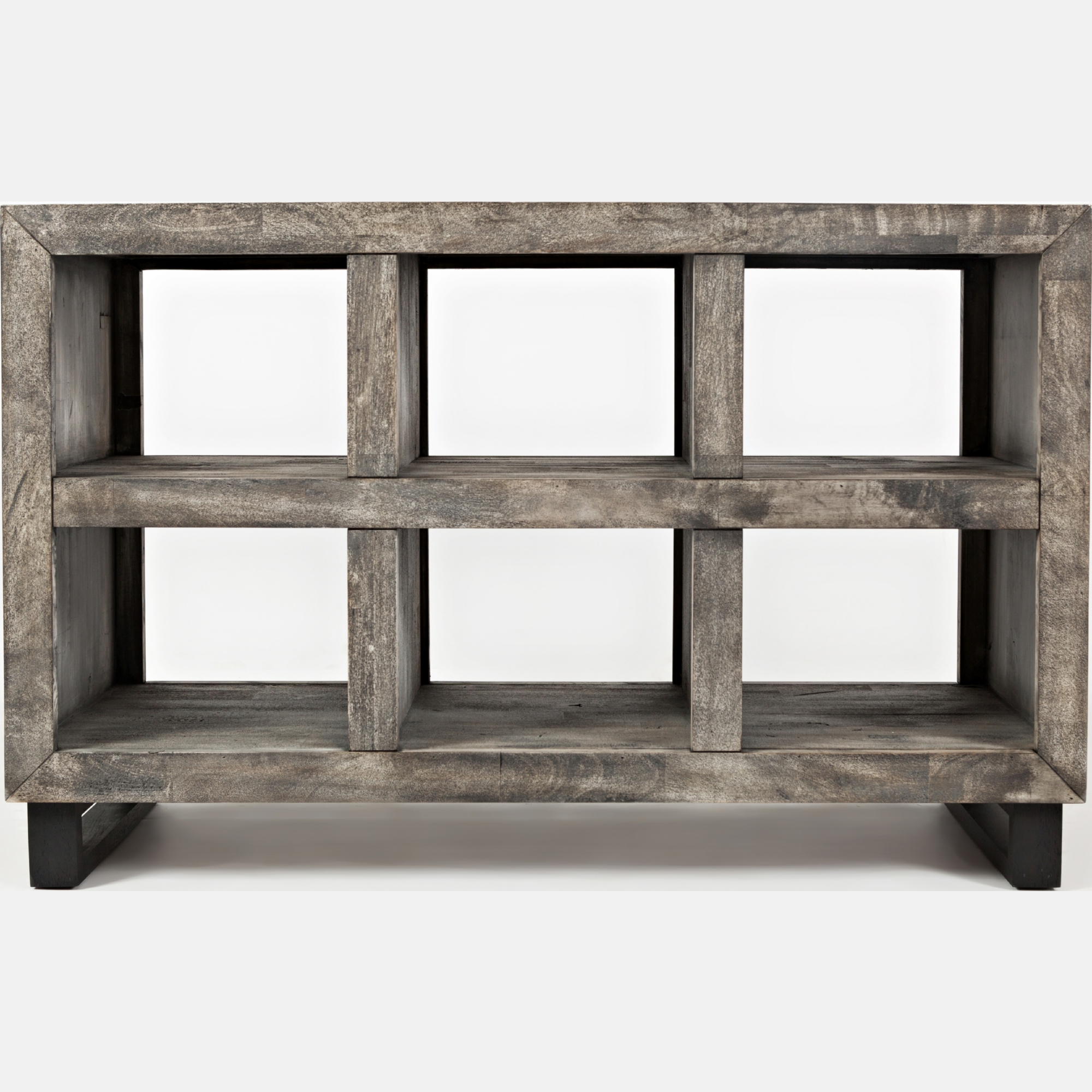 Jofran 1670 4 Mulholland Drive Distressed 6 partment Sofa Table