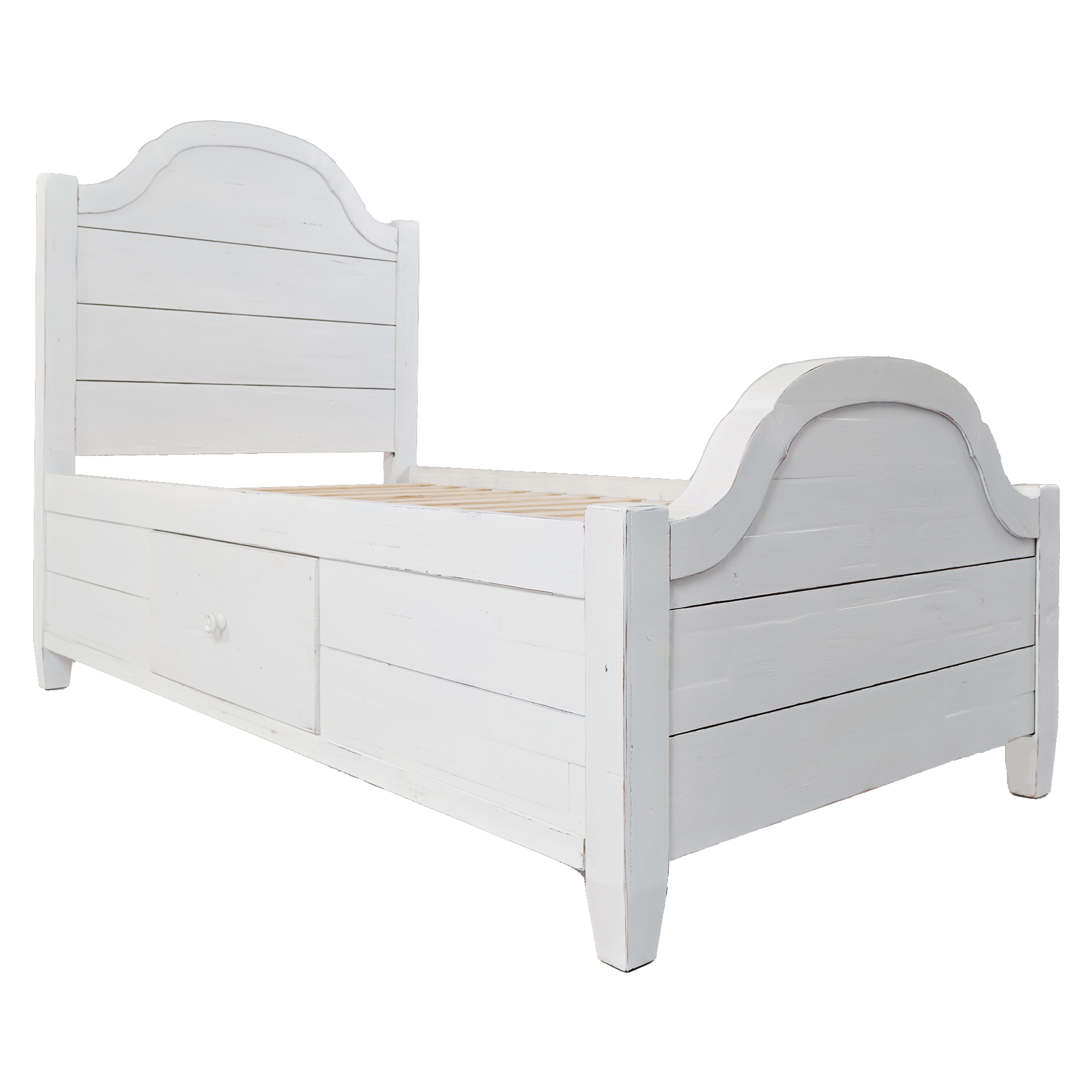 chesapeake twin storage bed in distressed white
