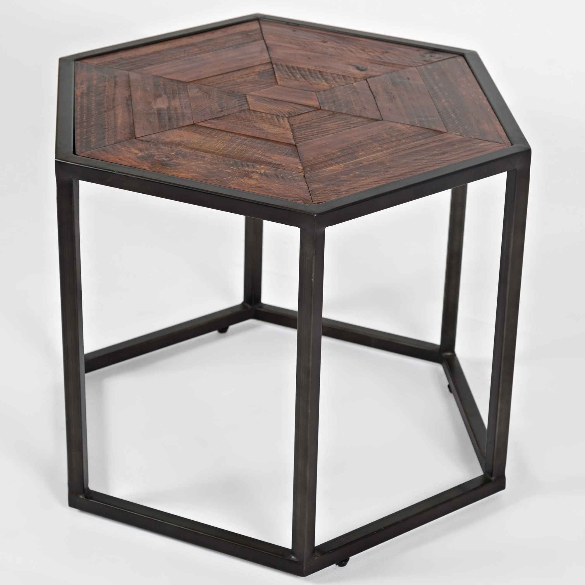 Jofran Flatiron District Hex Cocktail Table In Rich Solid - Hex coffee table