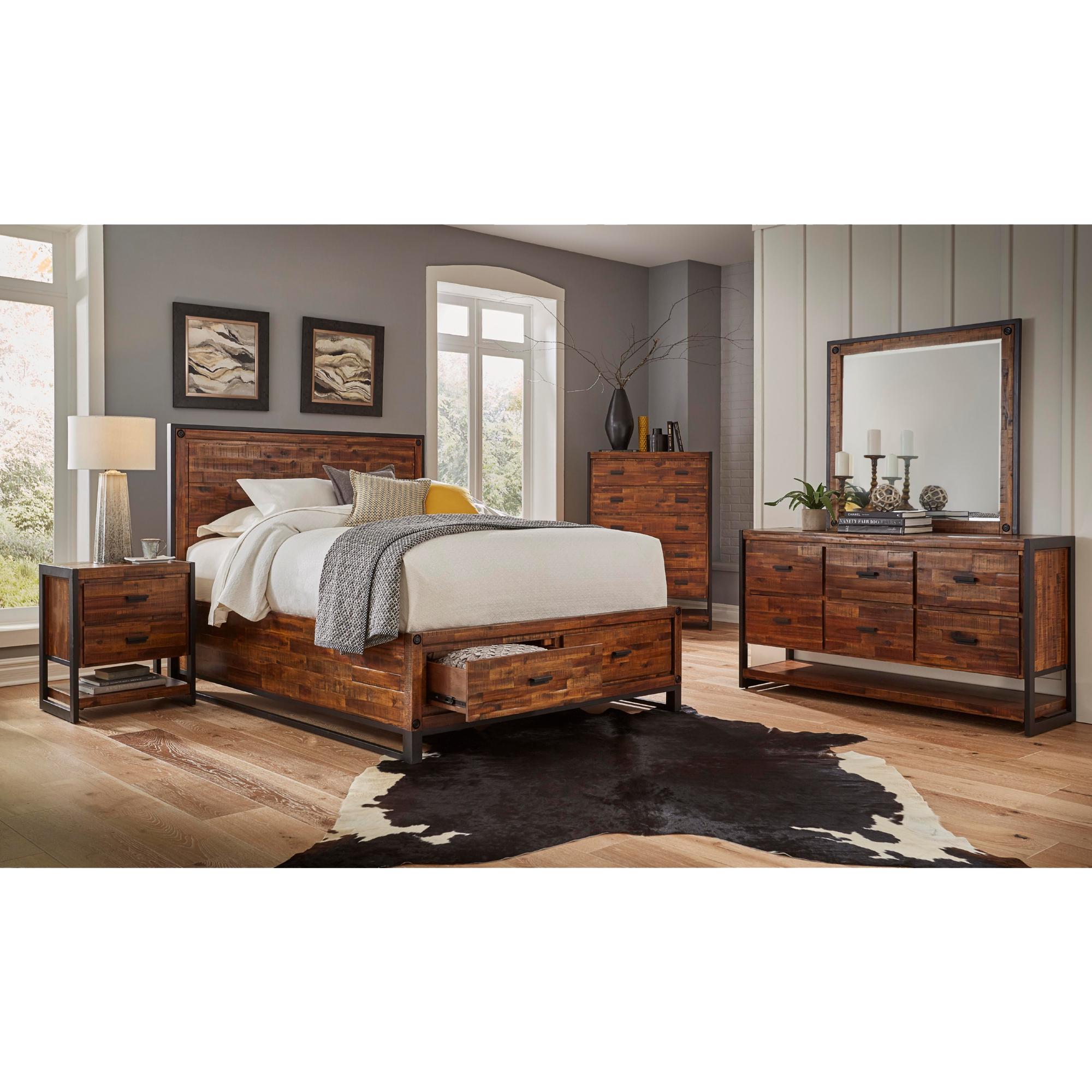 Jofran Queenset Loftworks Piece Queen Bedroom Set In