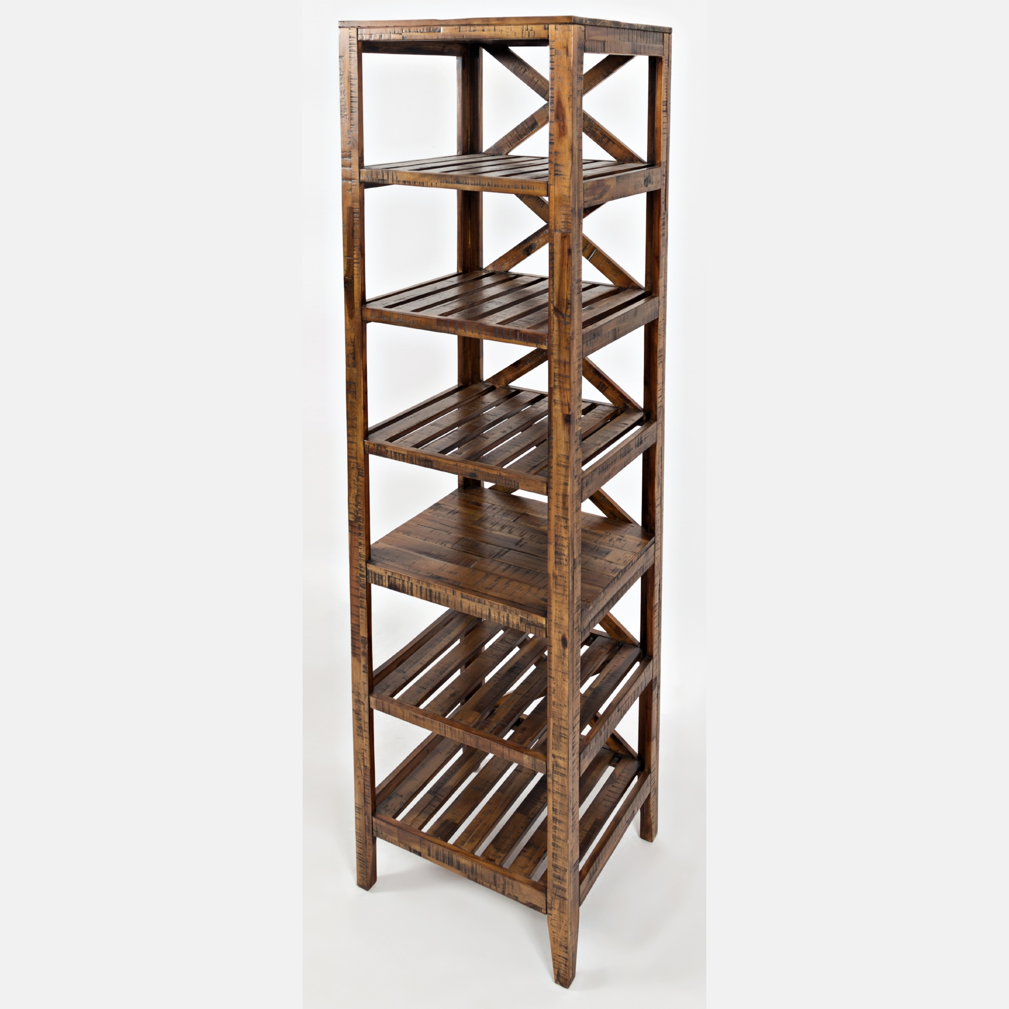 "Jofran 1694 22 Loftworks 22"" Pier Bookcase in Distressed Acacia"