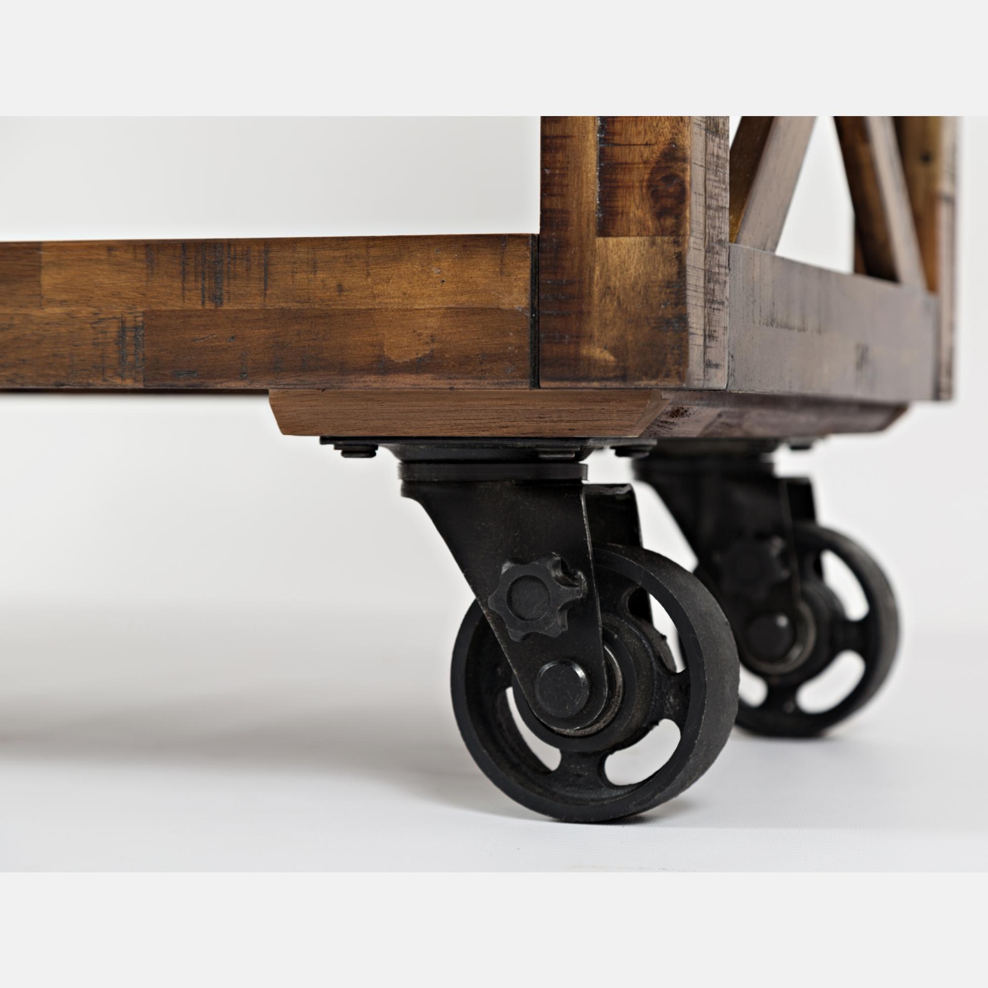 """Jofran 1694 60 Loftworks 60"""" Trolley Cart w Locking Industrial"""