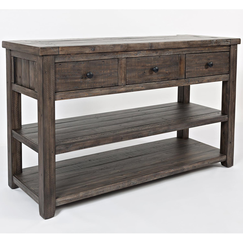 Outstanding Madison County Sofa Media Table In Distressed Barnwood By Jofran Creativecarmelina Interior Chair Design Creativecarmelinacom