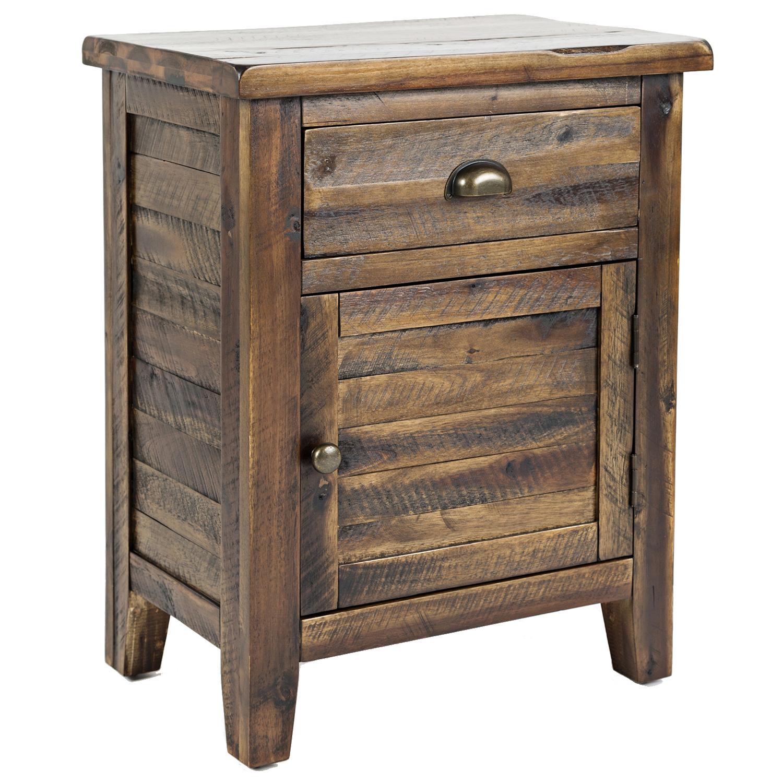 Artisanu0027s Craft Accent Table In Distressed Dakota Oak