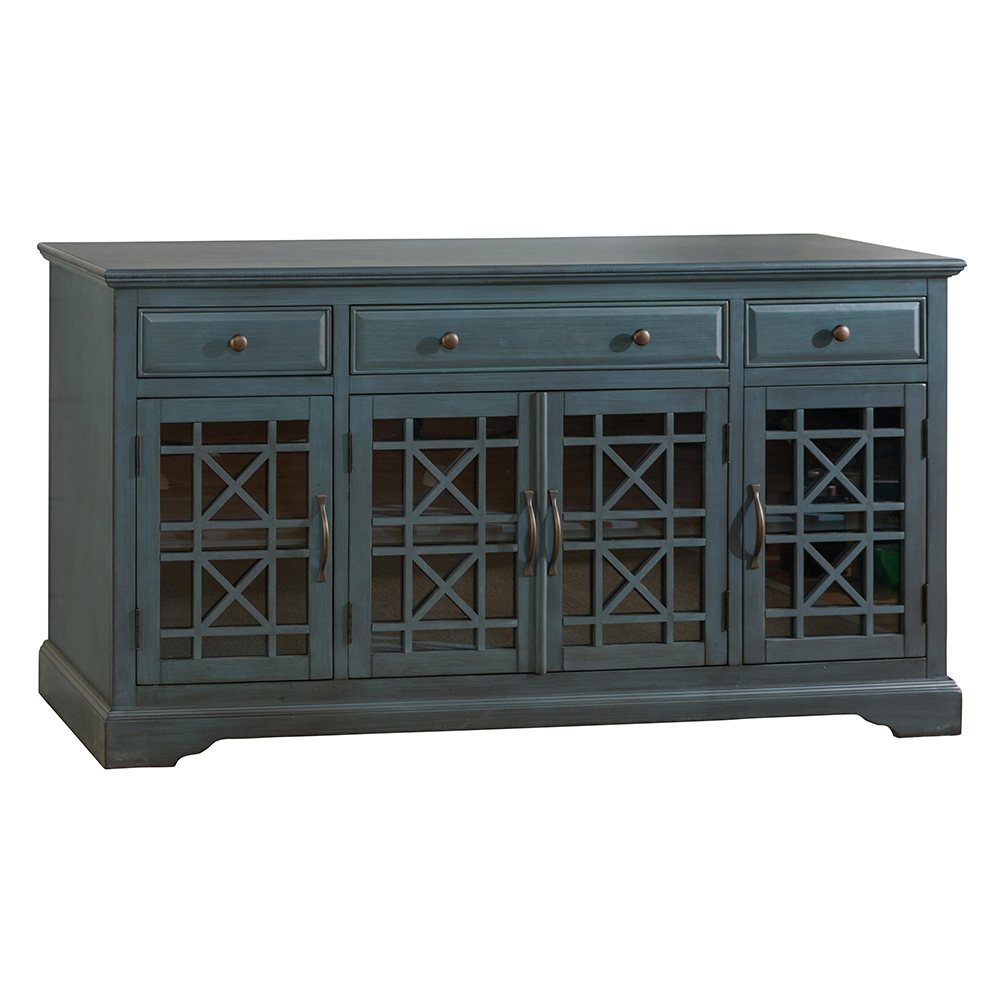 Jofran 175 60 Craftsman Antique 60 TV Stand Media Unit In