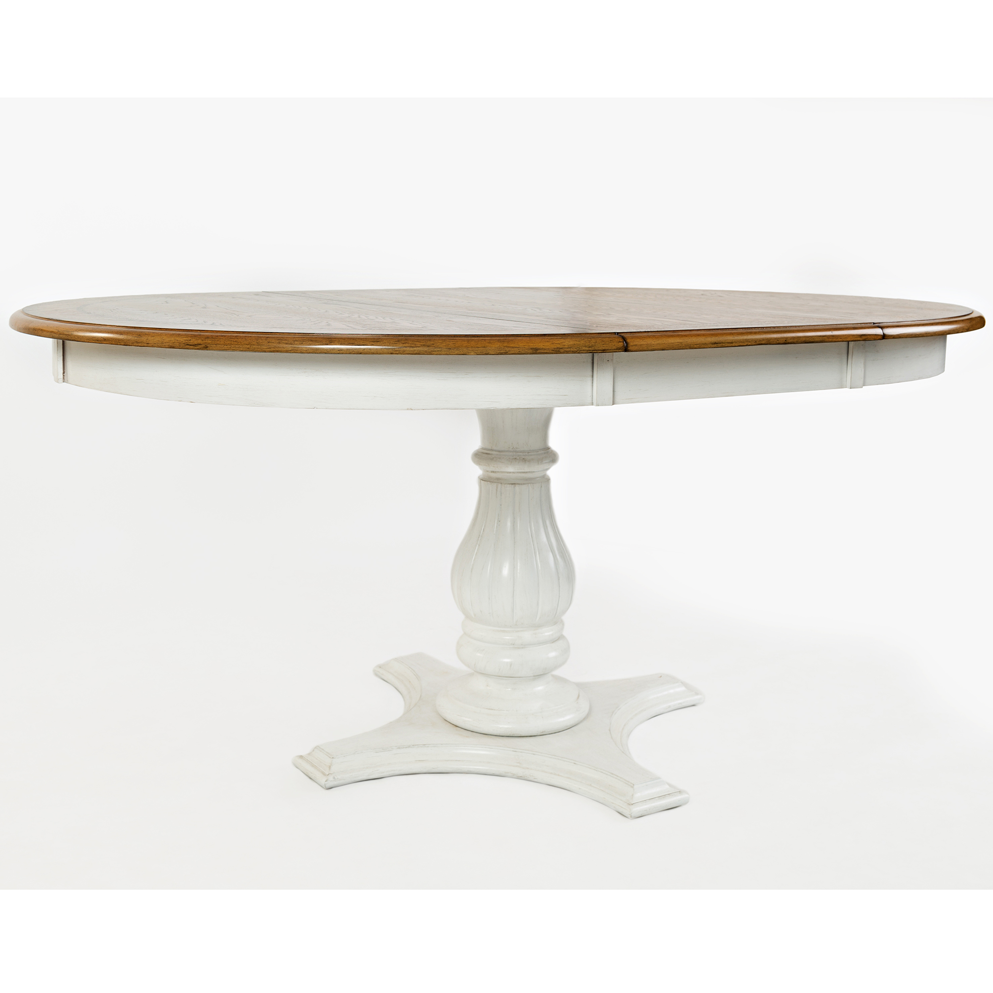 "Jofran 1776 66TBKT Castle Hill 48"" Round to 66"" Oval Dining Table"