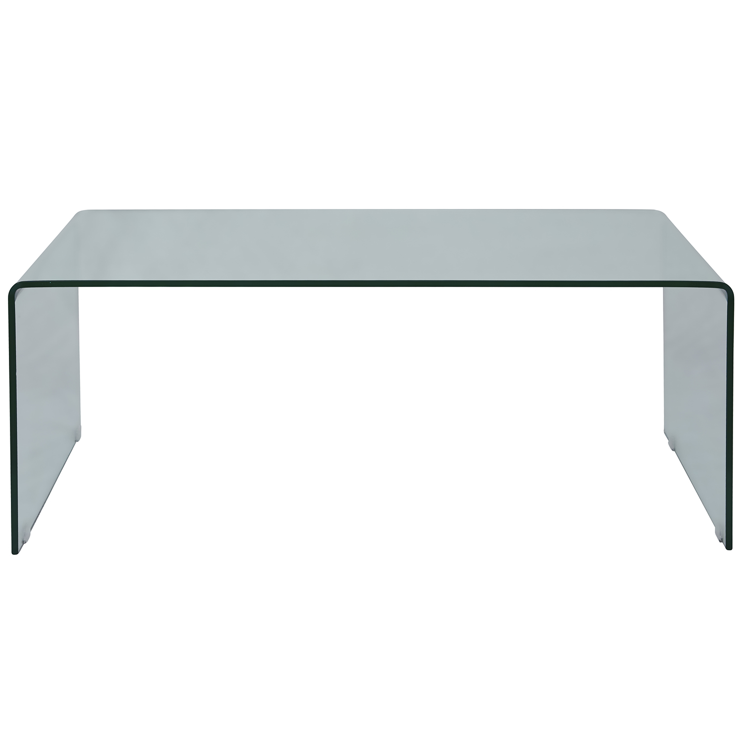 Jofran 1788 1 Clarity Bent Glass Cocktail Table