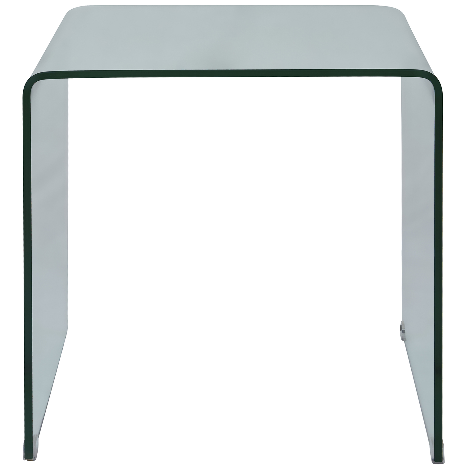 jofran  clarity bent glass end table - clarity bent glass end table