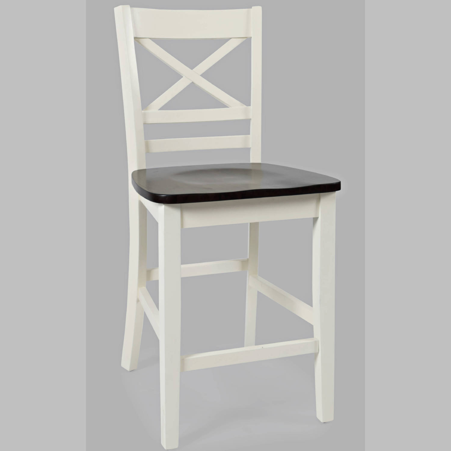 Remarkable Asbury Park X Back Counter Stool In White Brown Set Of 2 By Jofran Creativecarmelina Interior Chair Design Creativecarmelinacom