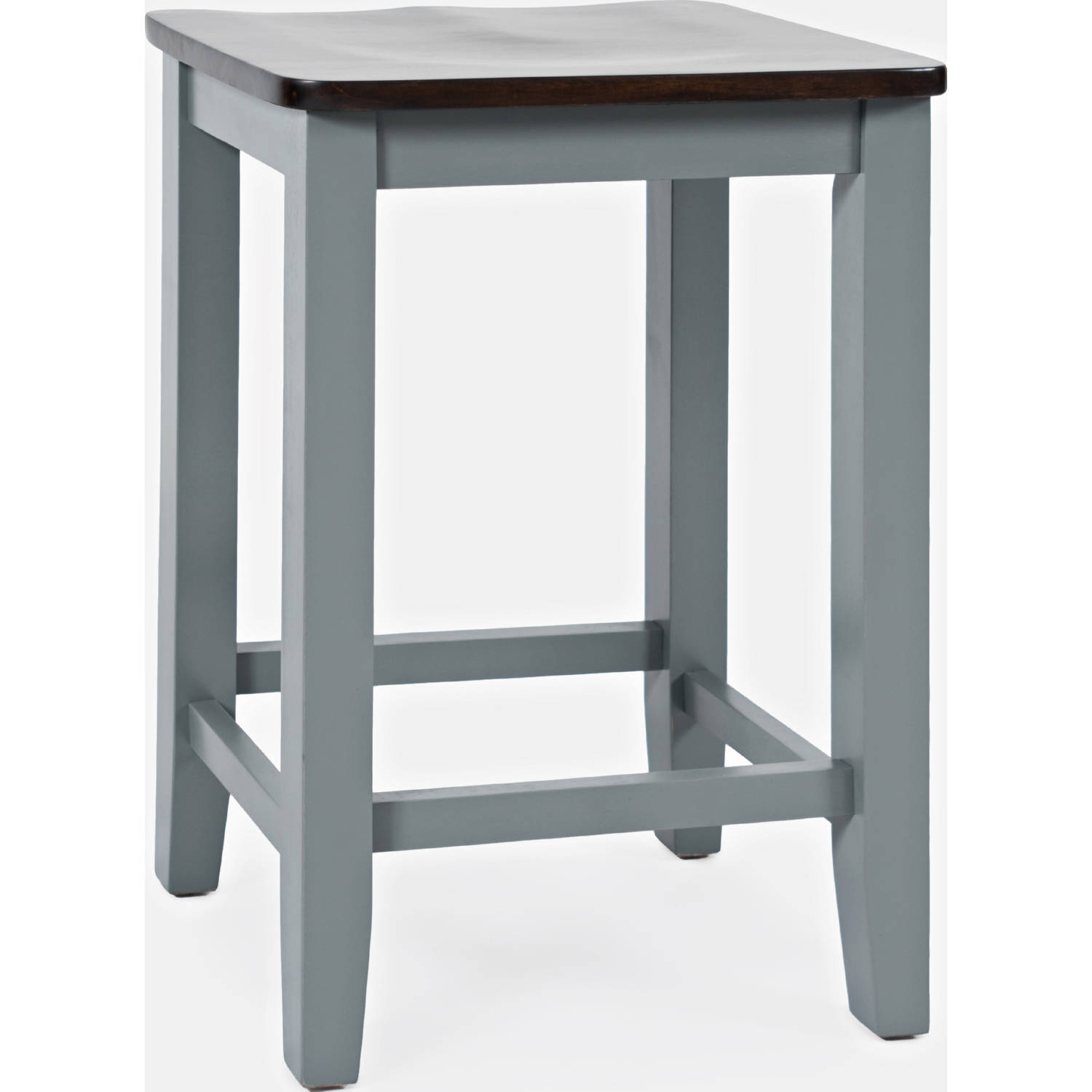 Excellent Asbury Park Backless Saddle Counter Stool In Grey Brown Set Of 2 By Jofran Gmtry Best Dining Table And Chair Ideas Images Gmtryco
