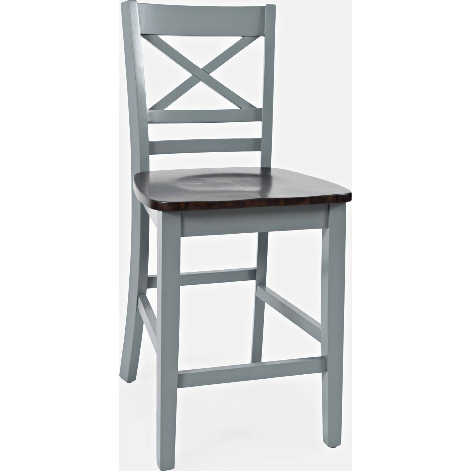 Prime Asbury Park X Back Counter Stool In Grey Brown Set Of 2 By Jofran Unemploymentrelief Wooden Chair Designs For Living Room Unemploymentrelieforg