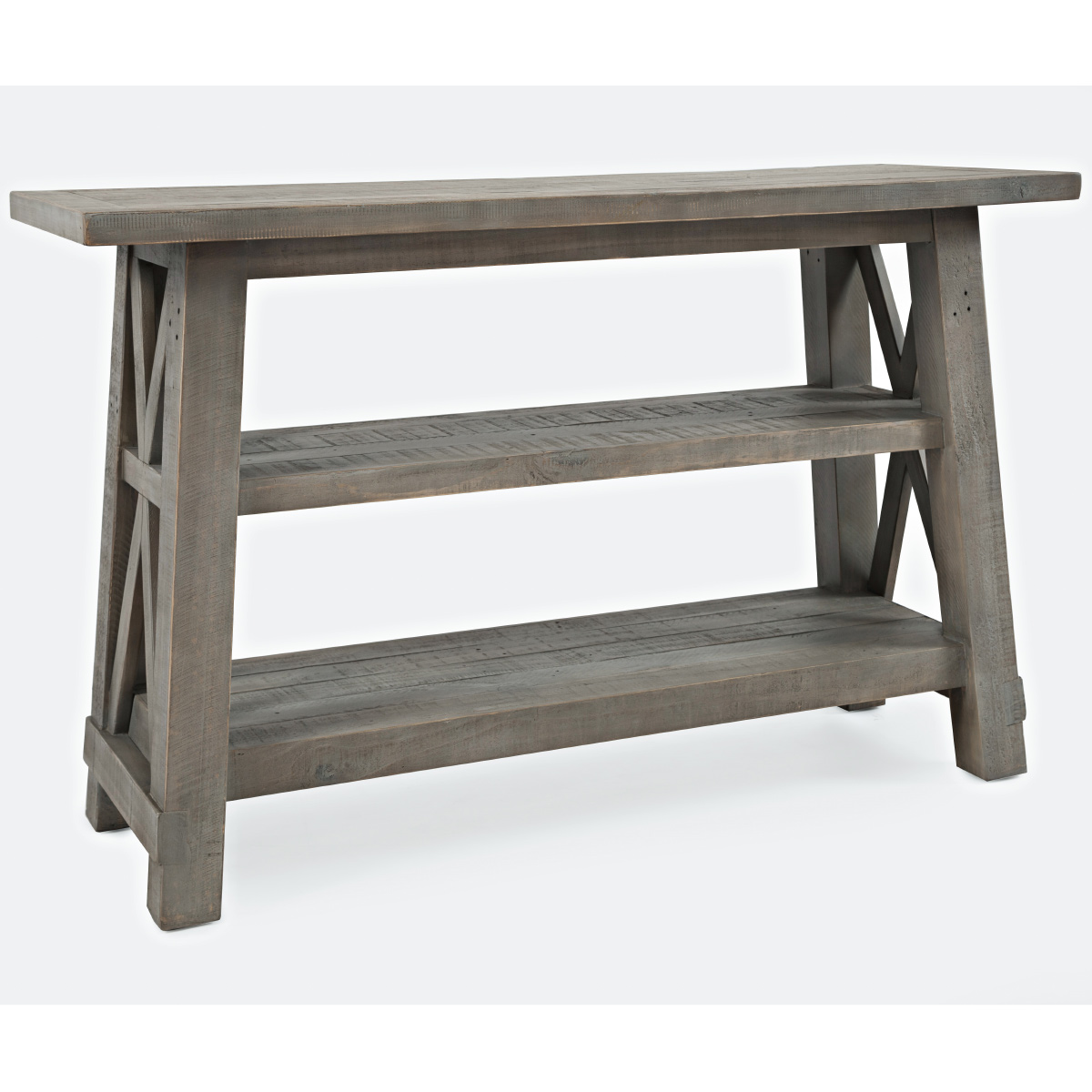 Outer Banks Sofa Table In Distressed Driftwood Finish By Jofran
