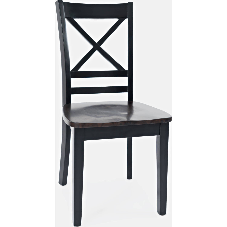 Surprising Asbury Park X Back Dining Chair In Brown Black Set Of 2 By Jofran Ibusinesslaw Wood Chair Design Ideas Ibusinesslaworg