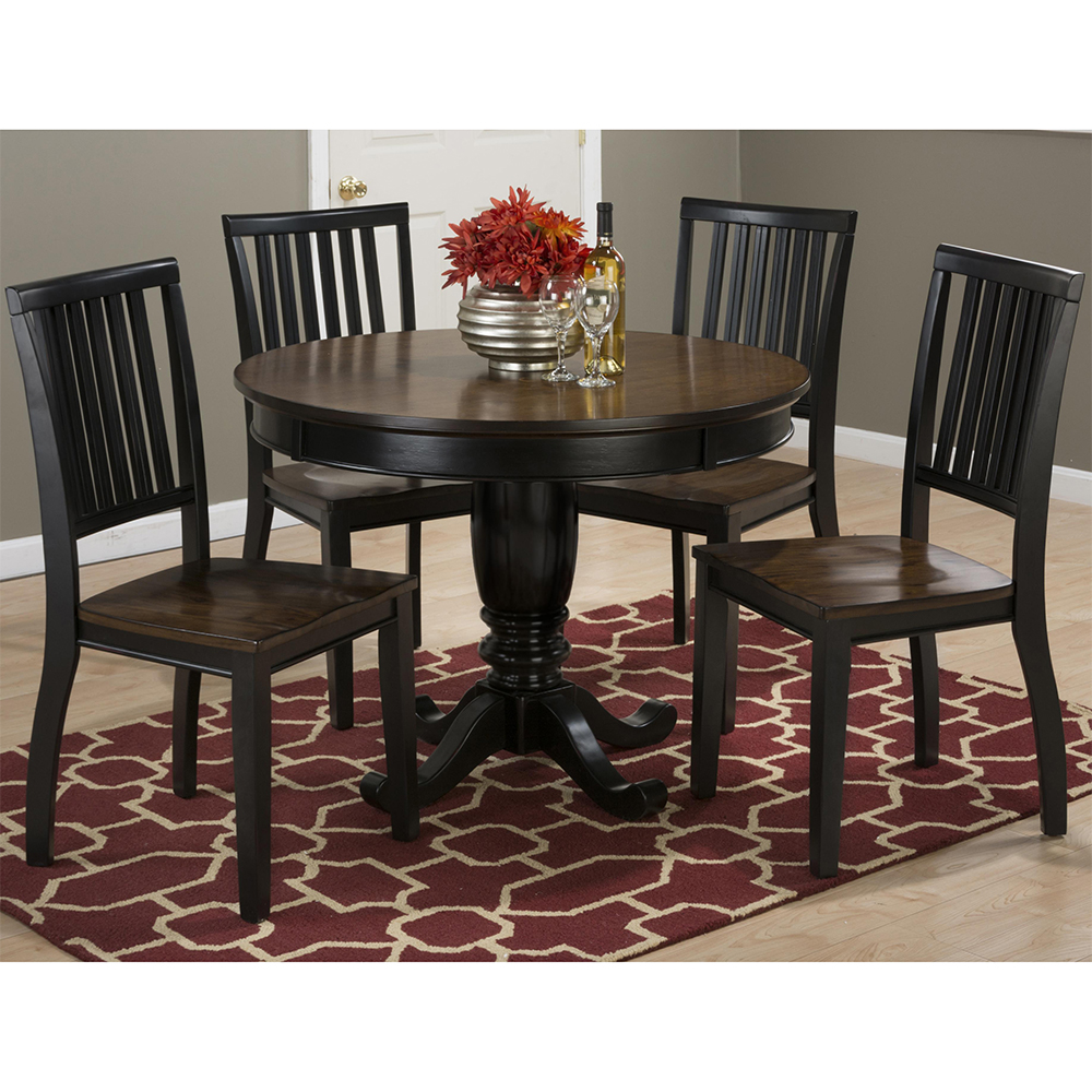 Pedestal Dining Table Set Jofran 272 42t 272 42b 4x272 219kd Braden Birch 5 Piece Pedestal