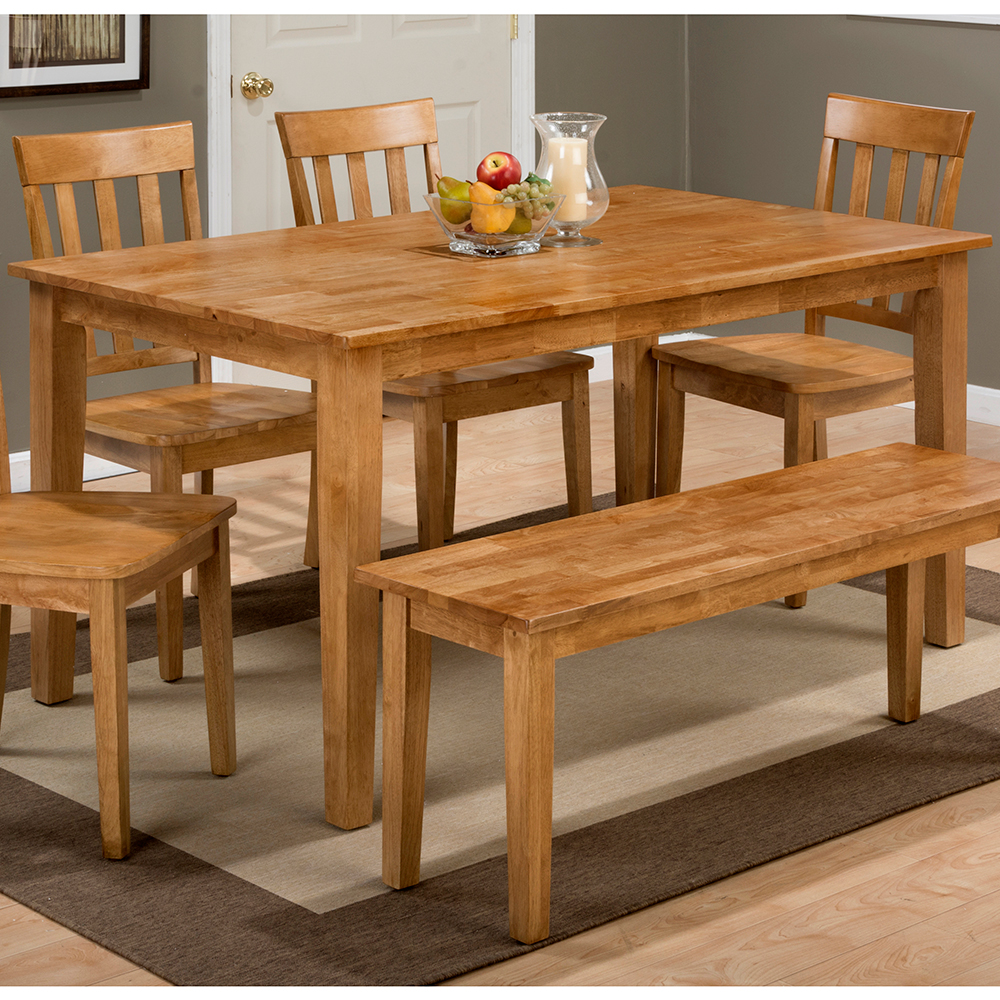 Charming Simplicity Honey Wooden Rectangle Dining Table