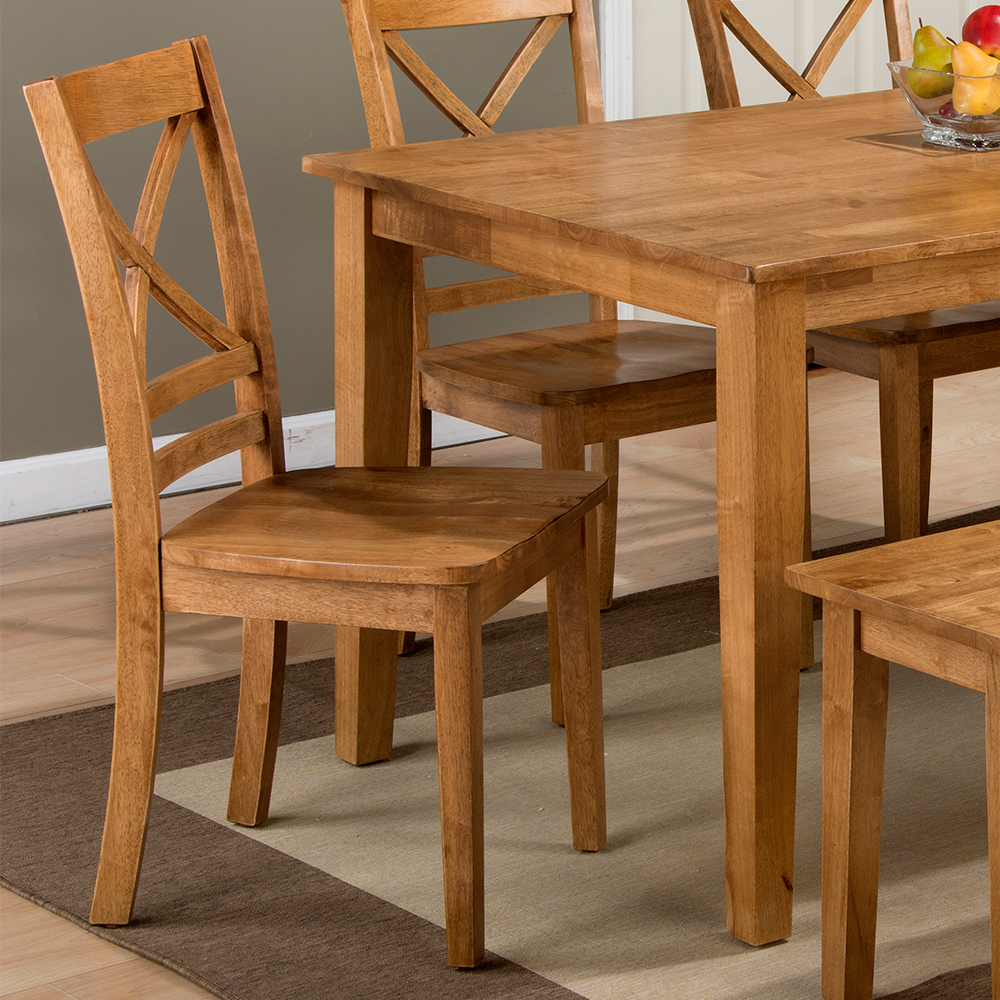 Jofran Simplicity Honey 5 Piece Dining Set   Table U0026 4 X Chairs