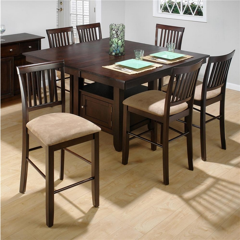 Jofran 373 55b 55t 6x373 bs711kd baker 39 s cherry 7 piece for Nec table 373 6