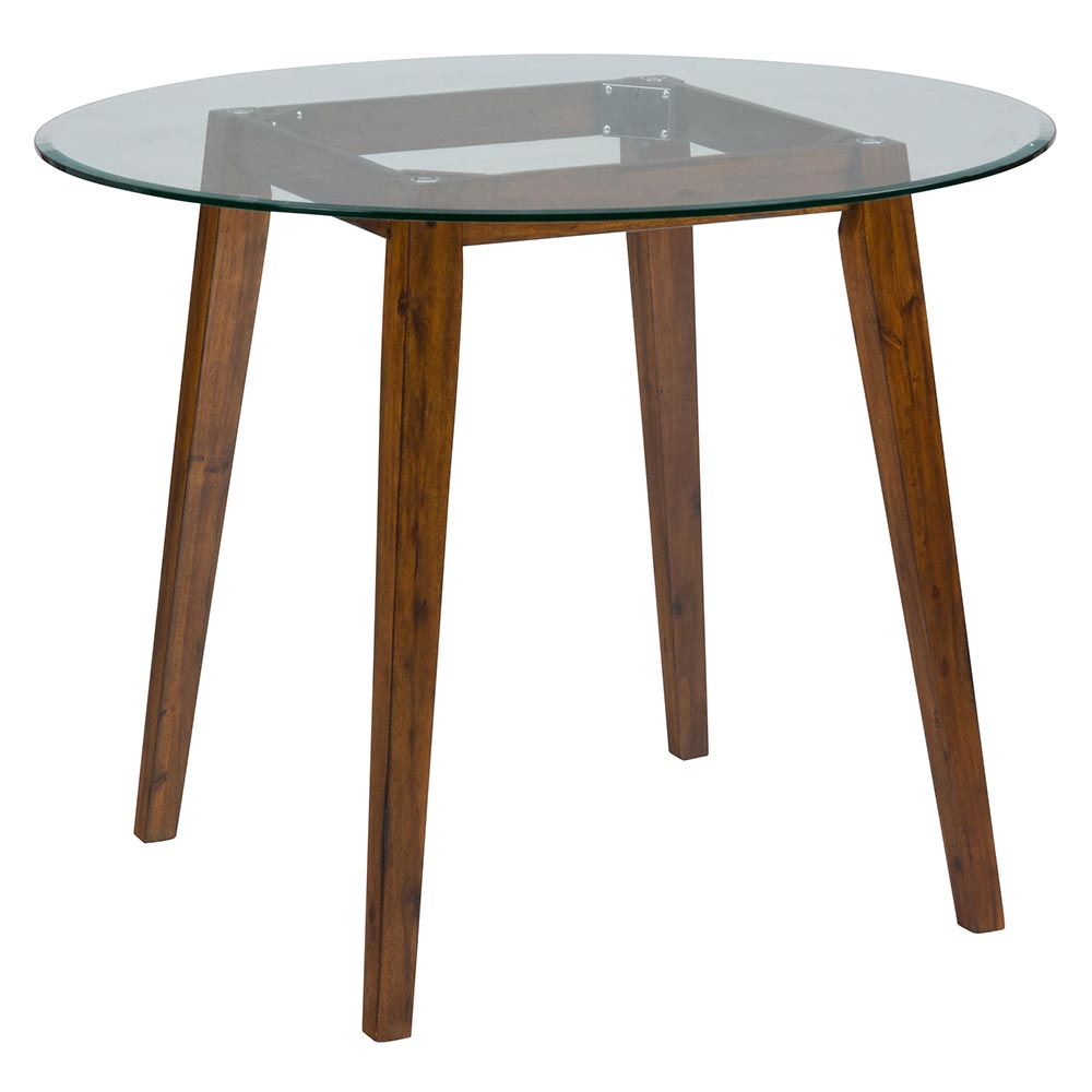 """Jofran Chadwick Counter Height Table With Corner Bench And: Jofran 505-50B+G-48RD Plantation 48"""" Round Counter Height"""