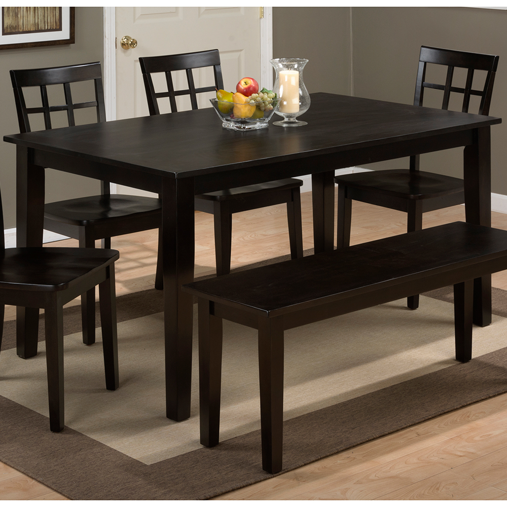 . jofran  simplicity espresso wooden rectangle dining table