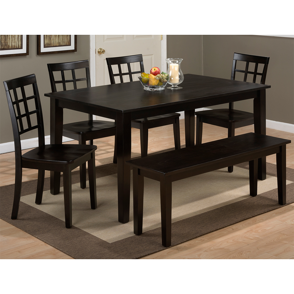 Jofran Simplicity Espresso Wooden Rectangle Dining Table