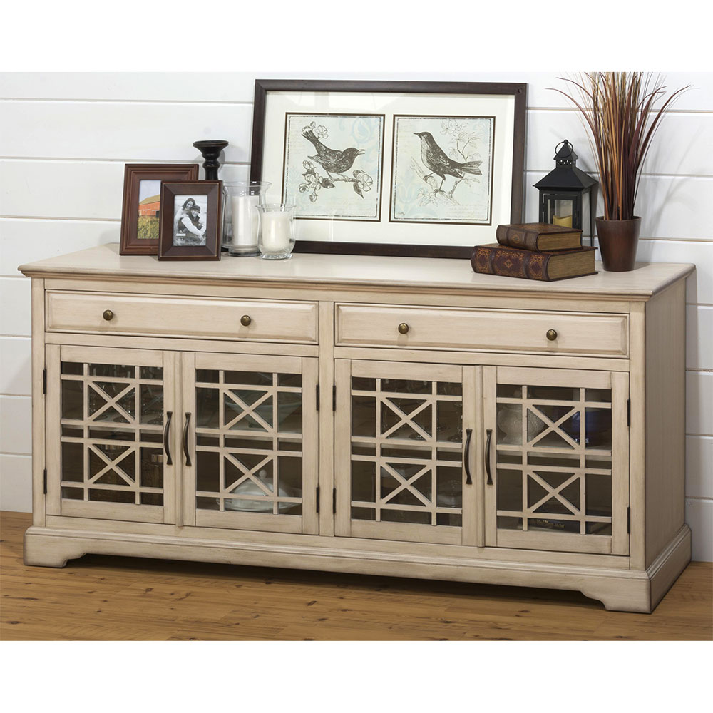 Jofran Craftsman Antique 70 TV Stand Media Unit W