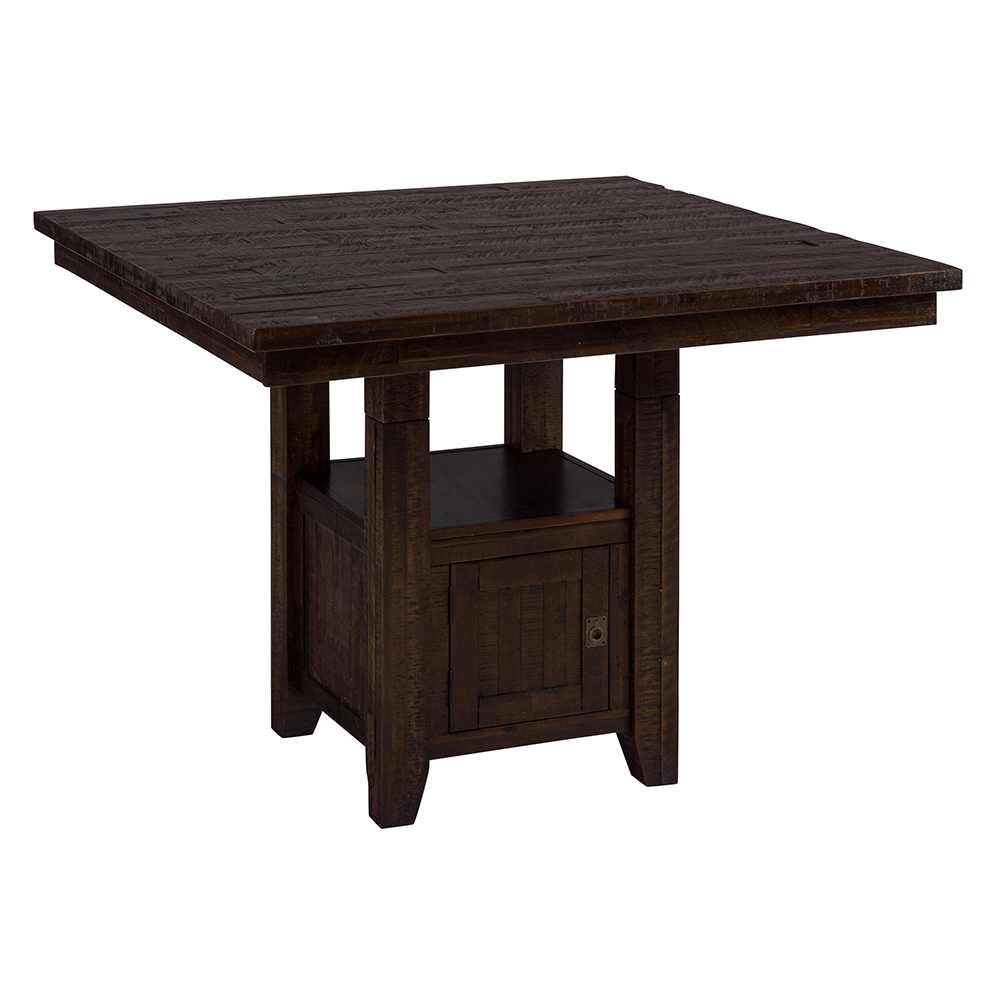 Jofran 705 48 kona grove pub dining table w storage base for Table fixed header