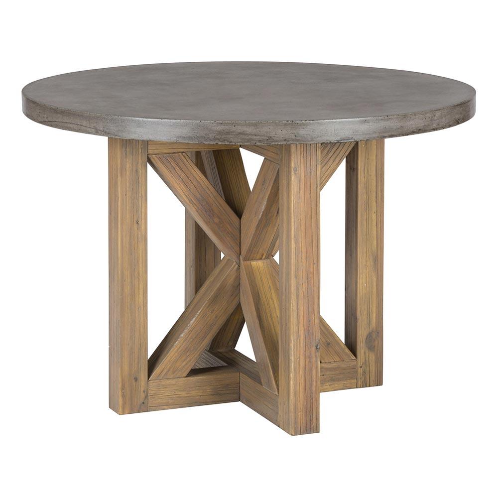 Concrete Top Dining Tables Jofran 757 43b 757 43t 2x757 611kd Boulder Ridge Concrete Top