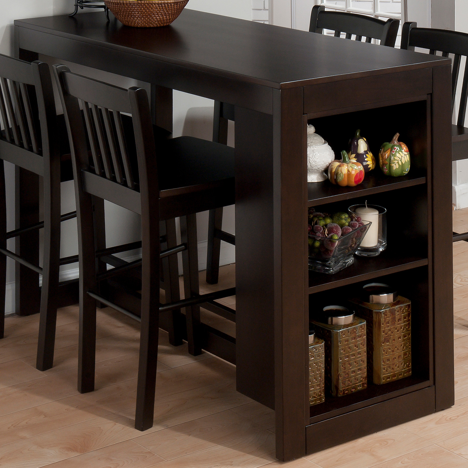Small Kitchen Tables With Storage: Jofran 810EC-48 Tribeca Counter Height Table W/ 3 Storage