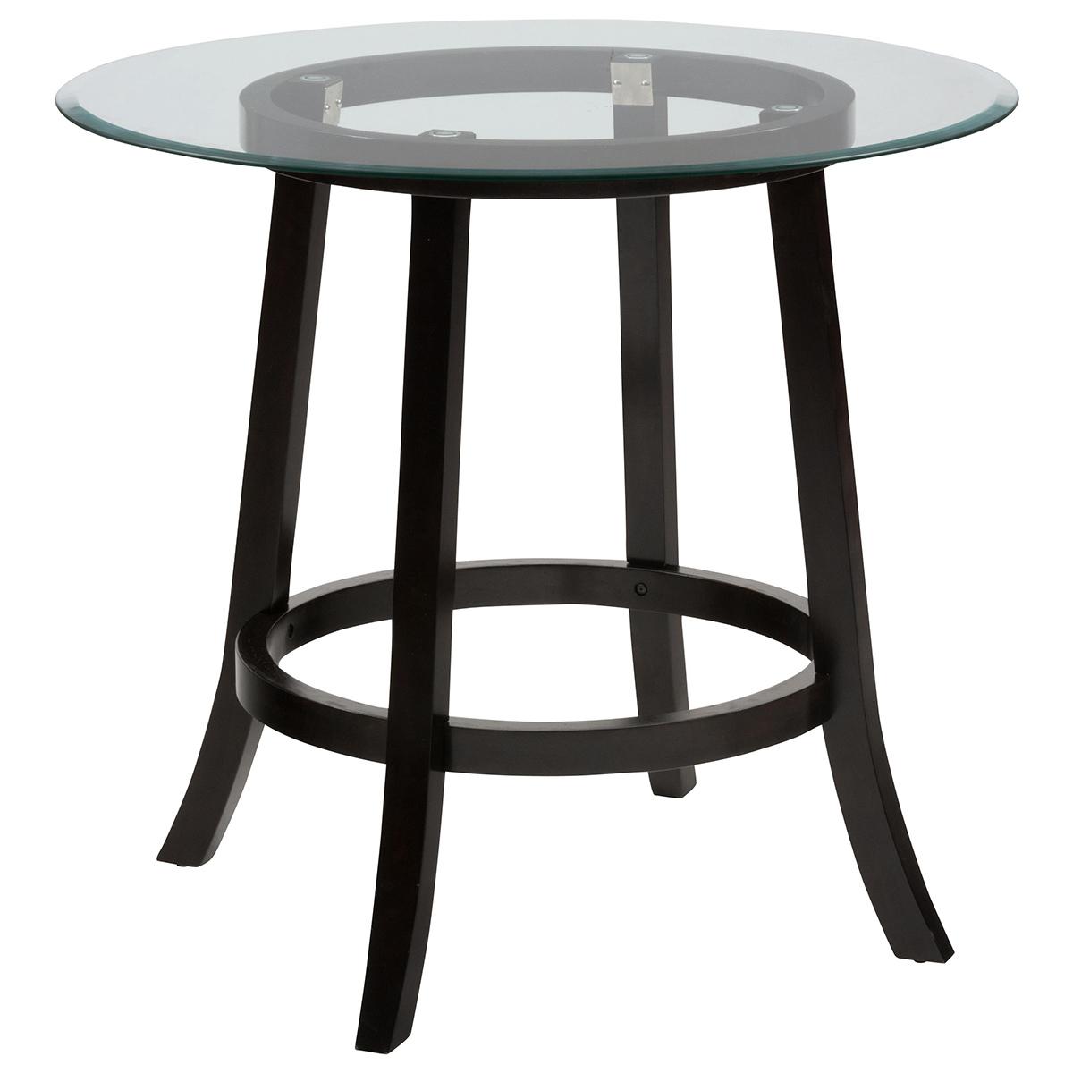 jofran bgrd aaron pub table w  round glass top - aaron pub table w  round glass top
