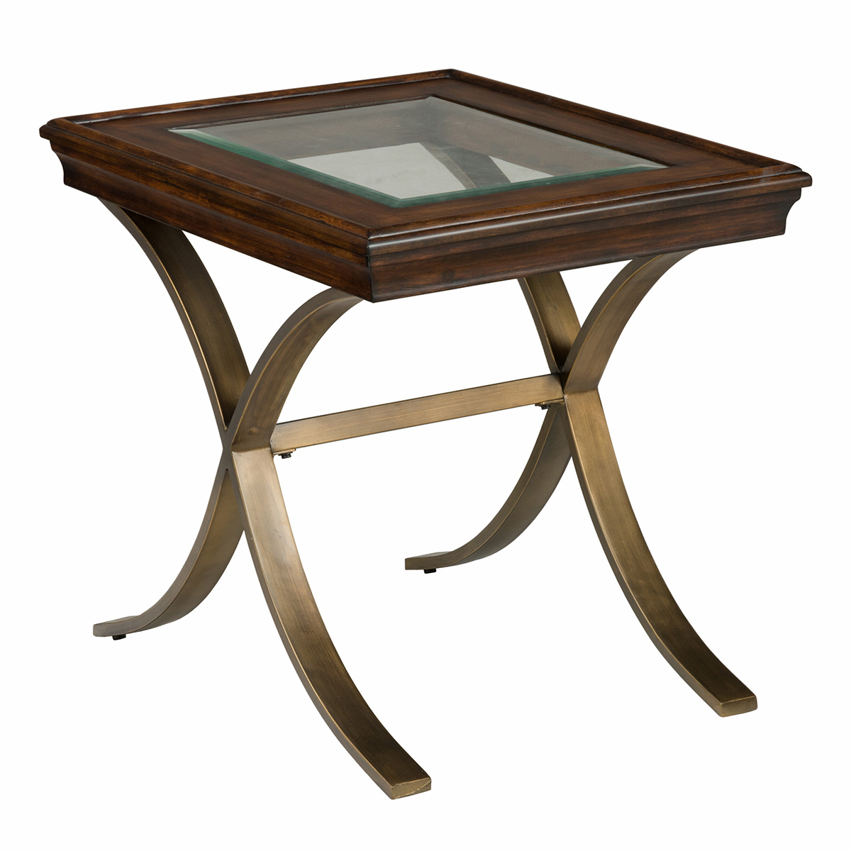 Surprising Ashland End Table W Chocolate Pine Glass Top On Curved Steel Legs By Jofran Machost Co Dining Chair Design Ideas Machostcouk