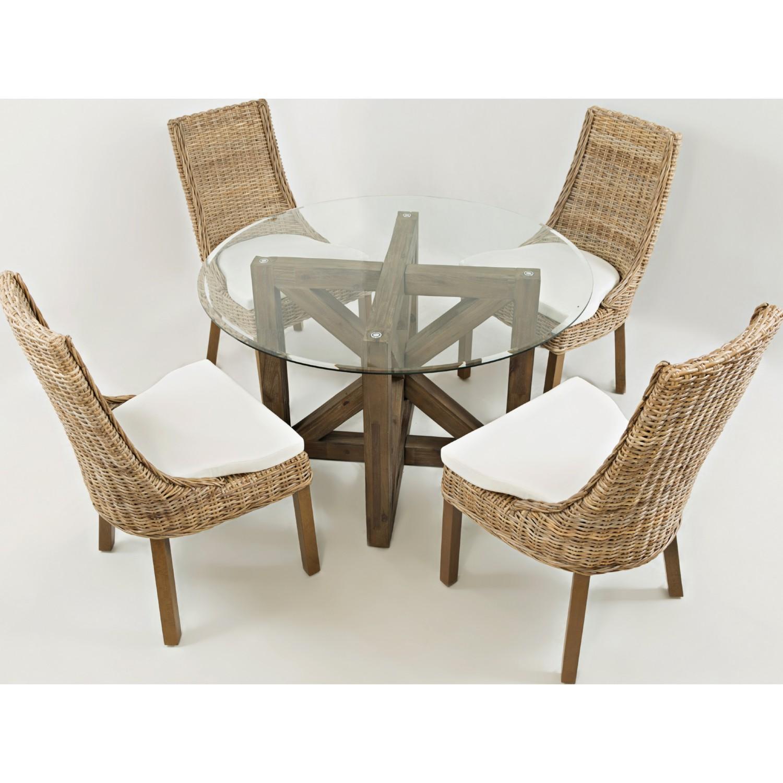 jofran 872 719kd hampton road rattan dining chair w cushion seat