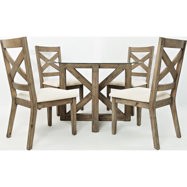 Jofran 872 628KD Hampton Road X Back Dining Chair in Sandblasted