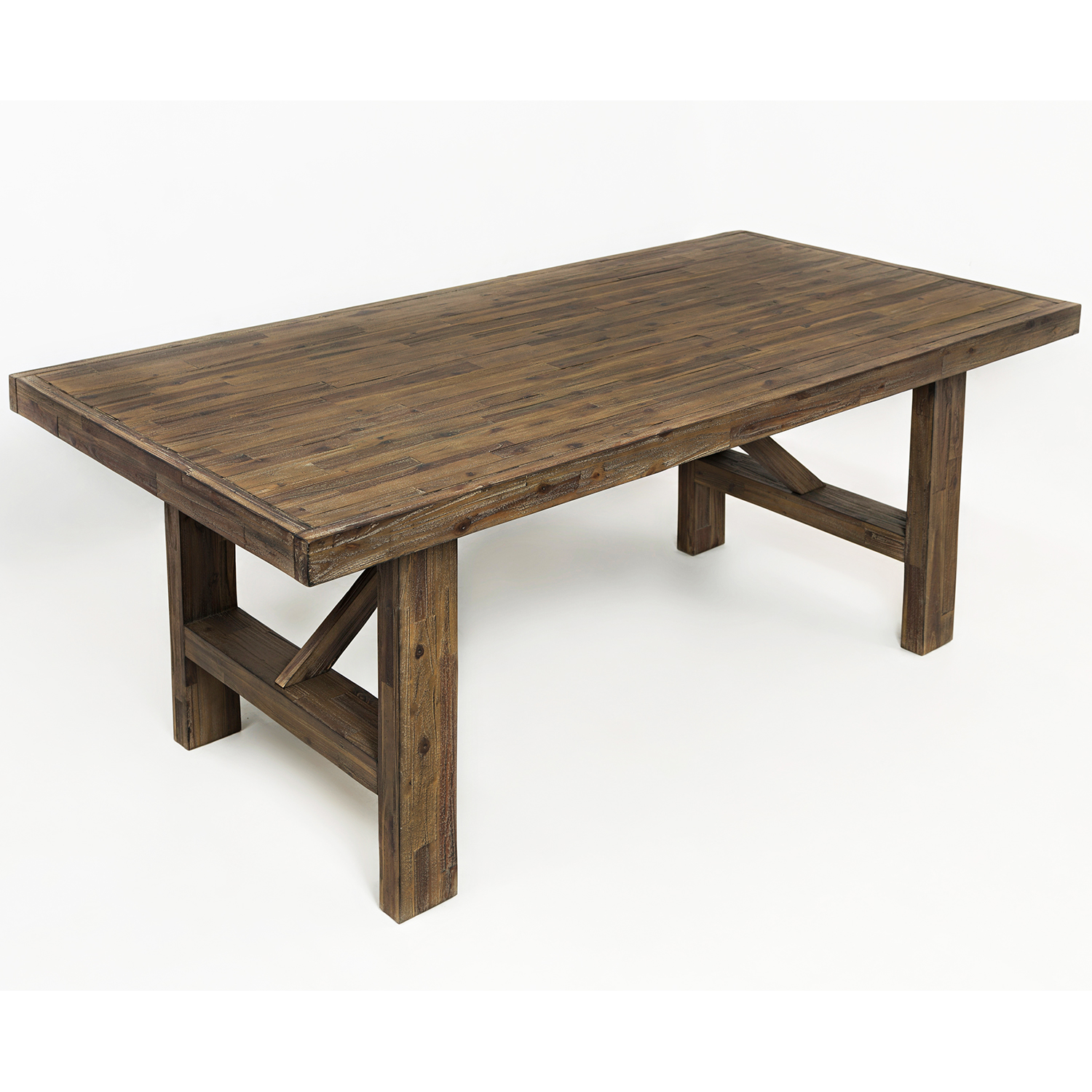 jofran 872 79 hampton road trestle dining table in distressed acacia