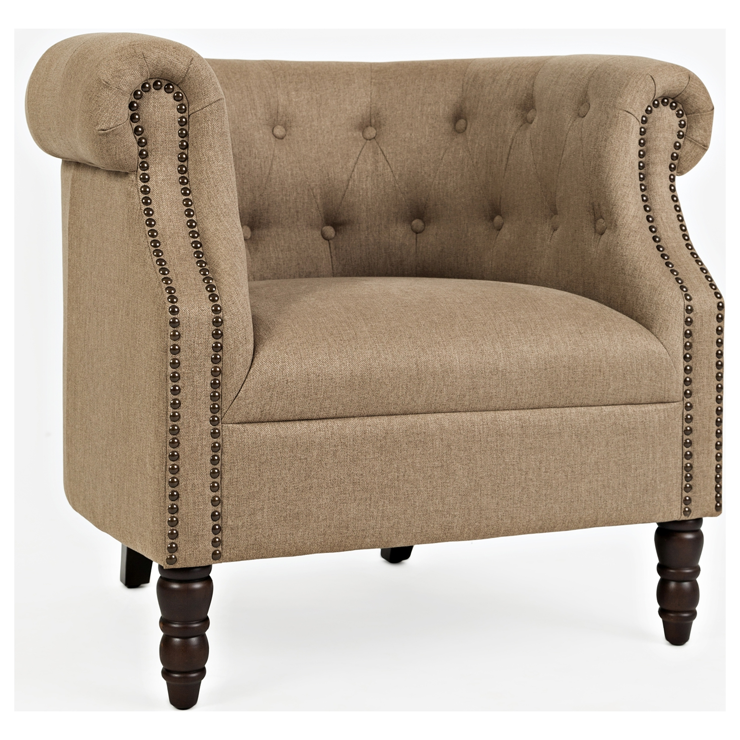 Jofran GRACE CH CHESTNUT Grace Accent Chair in Tufted Easy Living