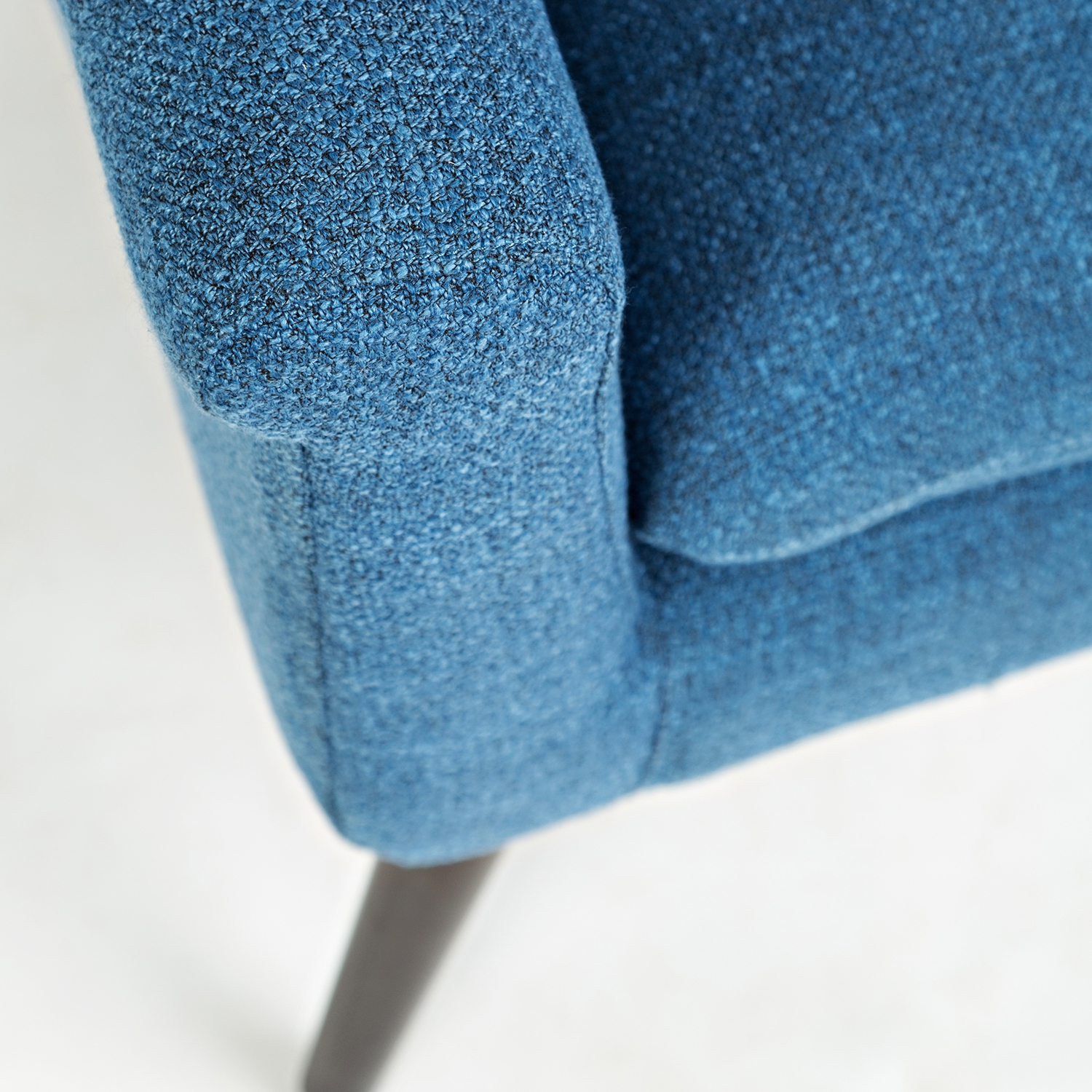 Royal blue accent chair - Marconi Mod Accent Chair In Royal Blue Fabric On Dark Legs