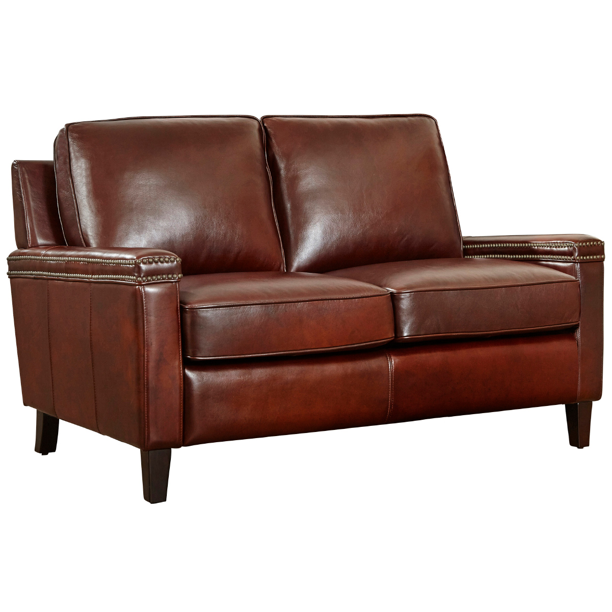 Tremendous Magnus Loveseat In Cinnamon Signature Leather W Nailhead Detail By Lazzaro Furniture Alphanode Cool Chair Designs And Ideas Alphanodeonline