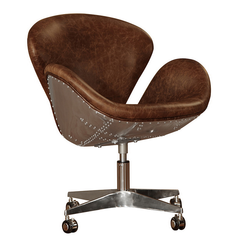 Beautiful Lazzaro Furniture 1417 54 9021 Cranwell Bomber Desk Chair In Cocoa Brompton  Brown Vintage Leather
