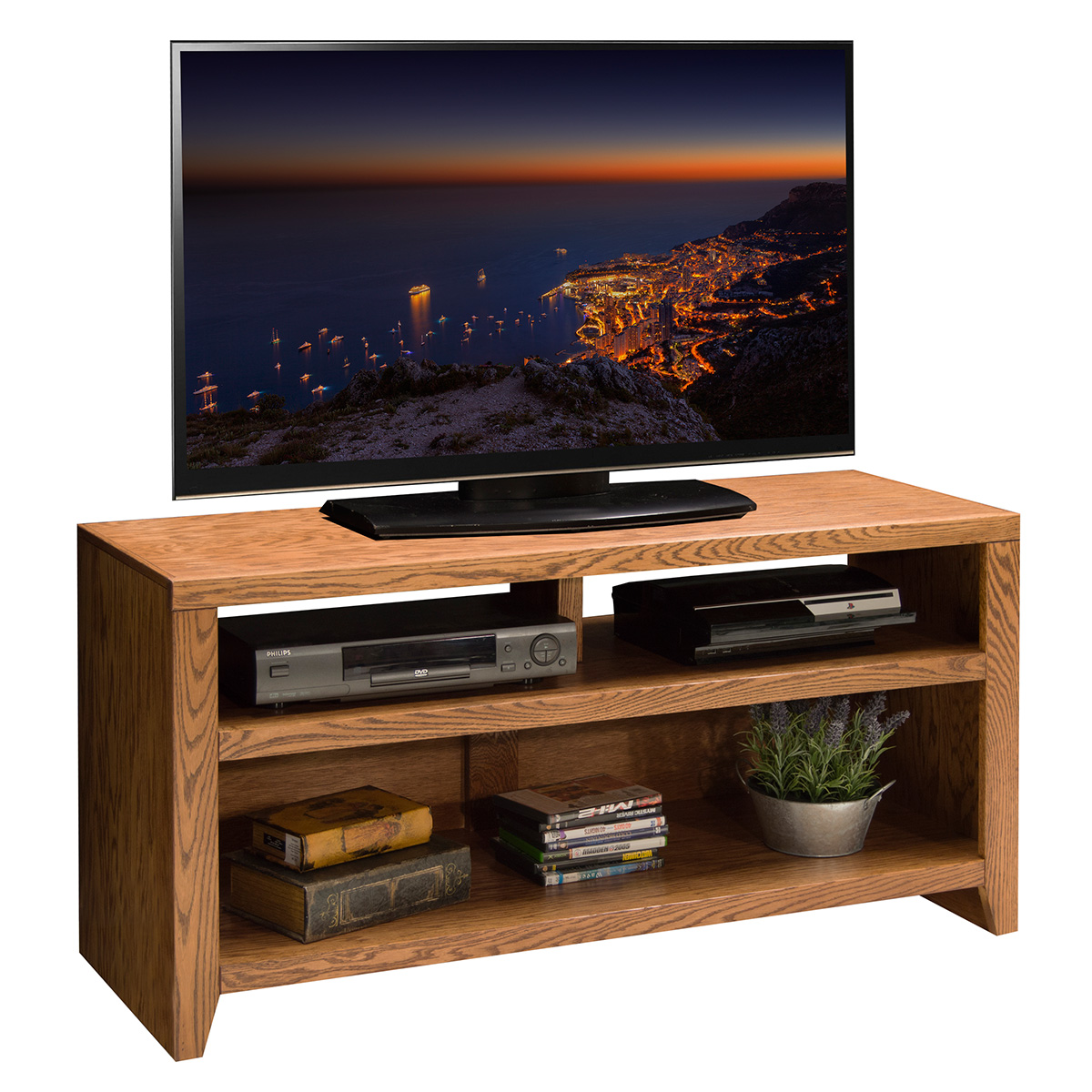 Legends furniture cl1208 city loft 48 tv stand cart in golden oak Home design golden city furniture