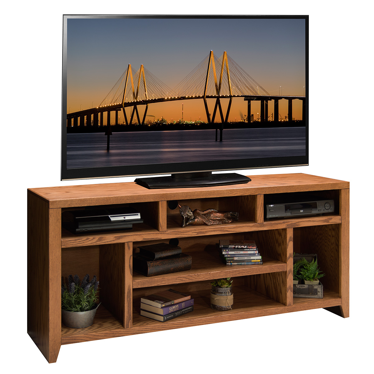Legends furniture cl1209 city loft 66 tv stand console in golden oak Home design golden city furniture